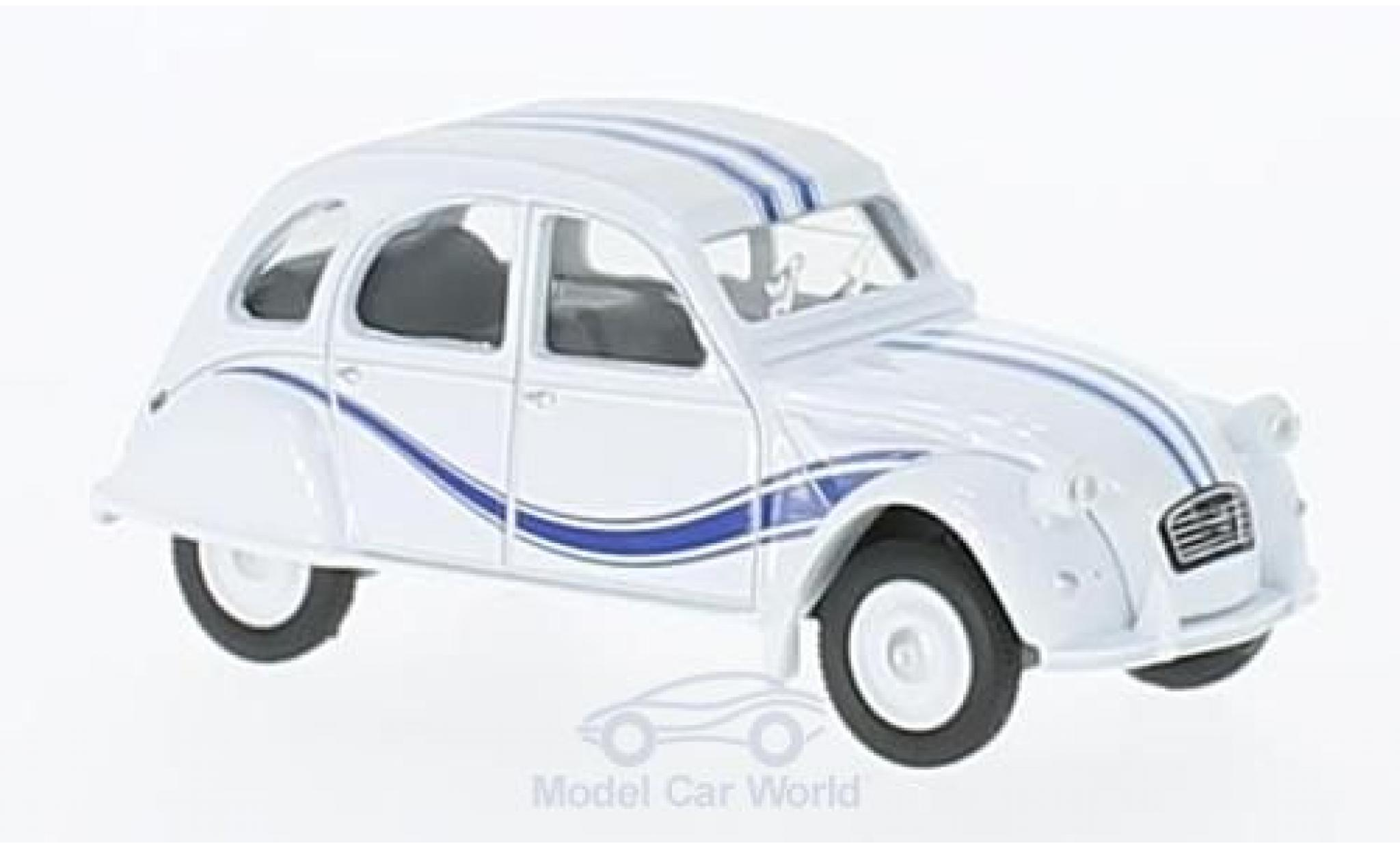 Citroen 2CV 1/64 Norev France 3 white/blue 1983
