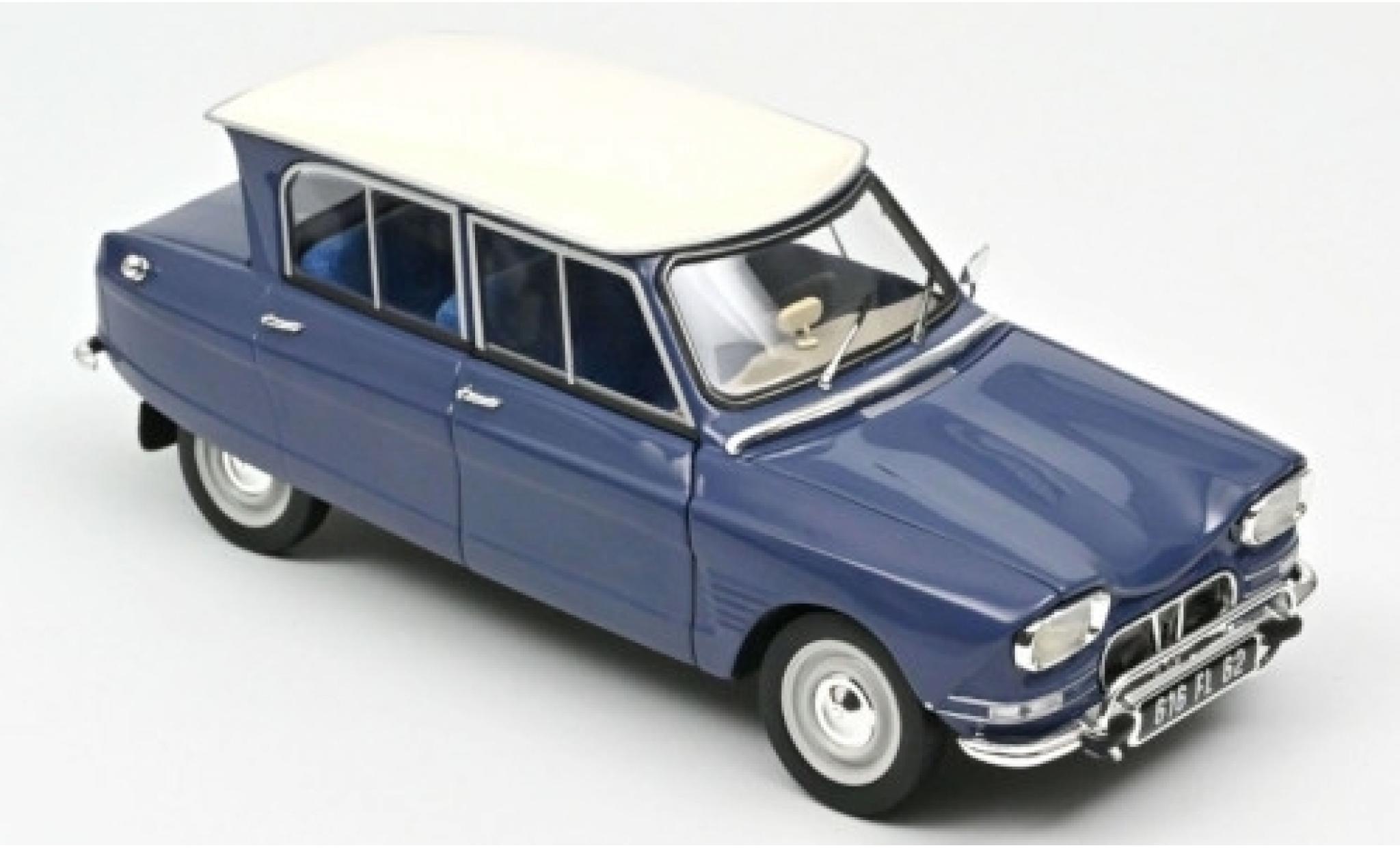 Citroen Ami 6 1/18 Norev bleue/blanche 1965