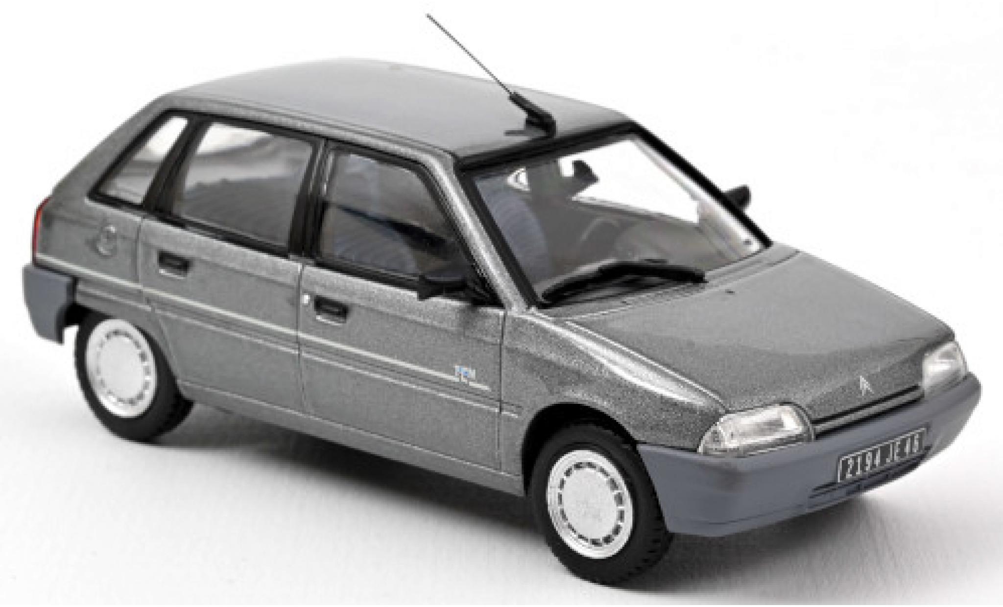 Citroen AX 1/43 Norev TEN metallise grise 1992