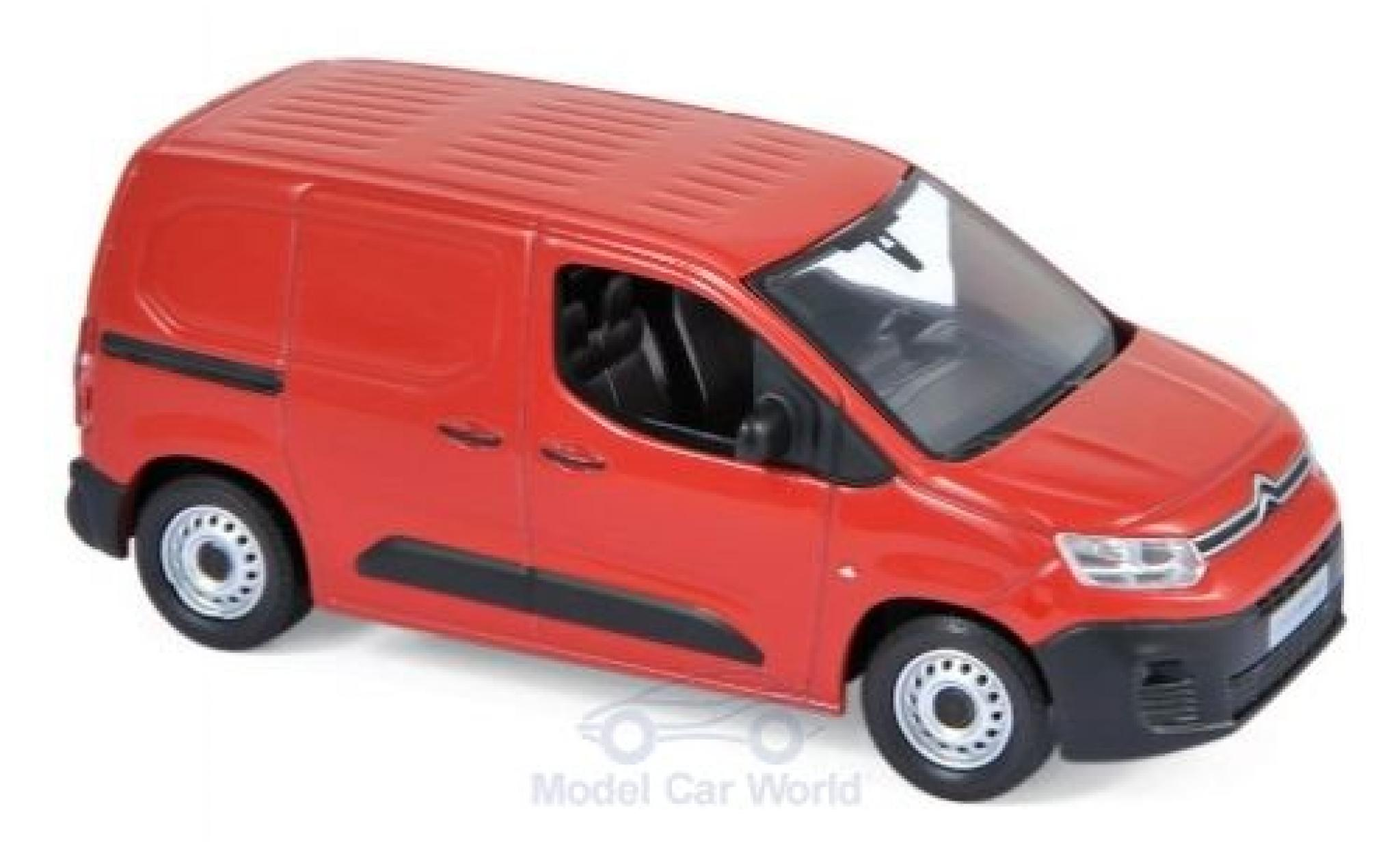 Citroen Berlingo 1/43 Norev Van rouge 2018