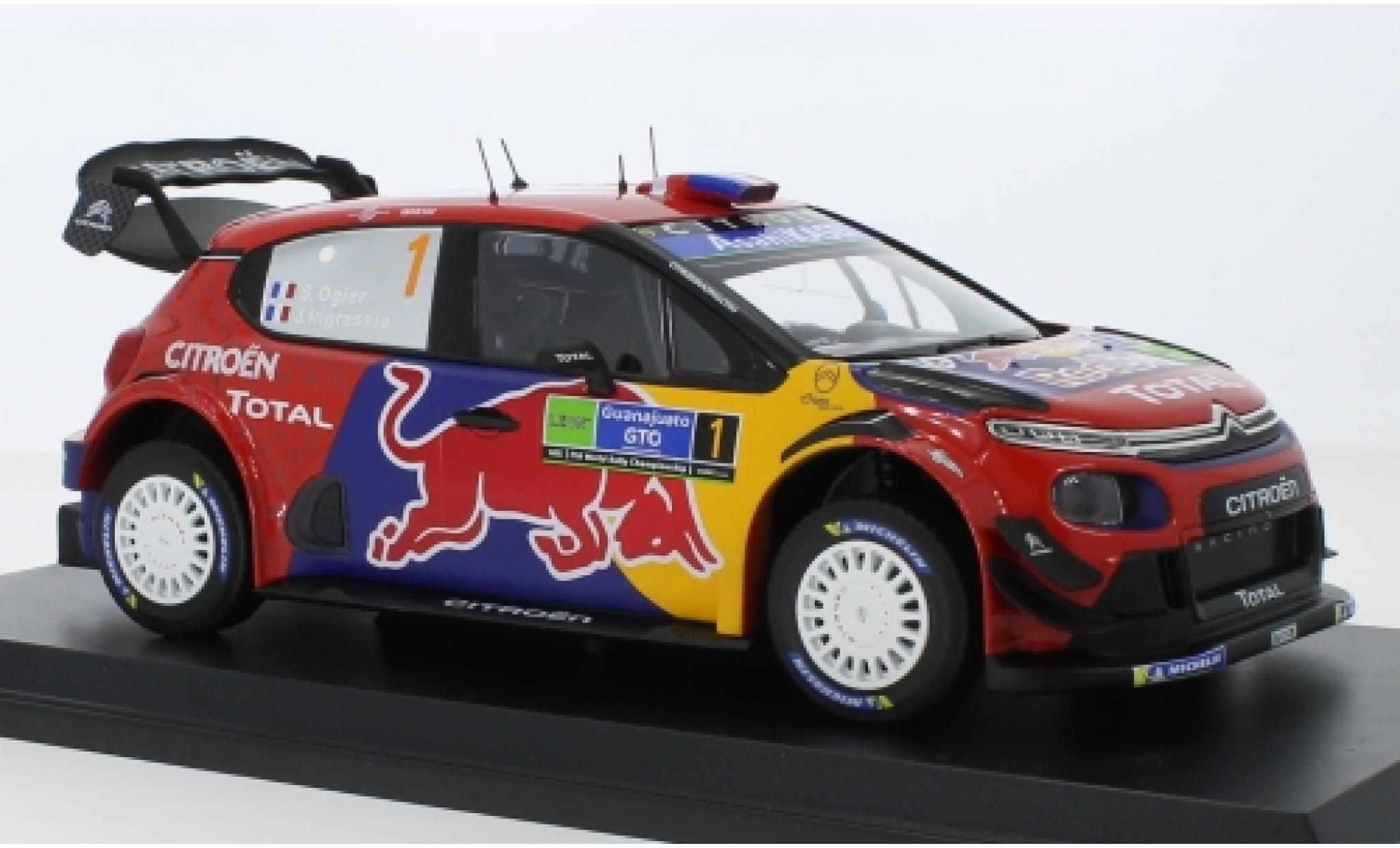 Citroen C3 1/18 Norev WRC No.1 Red Bull / Total WRC Rally Mexico 2019 S.Ogier/J.Ingrassia