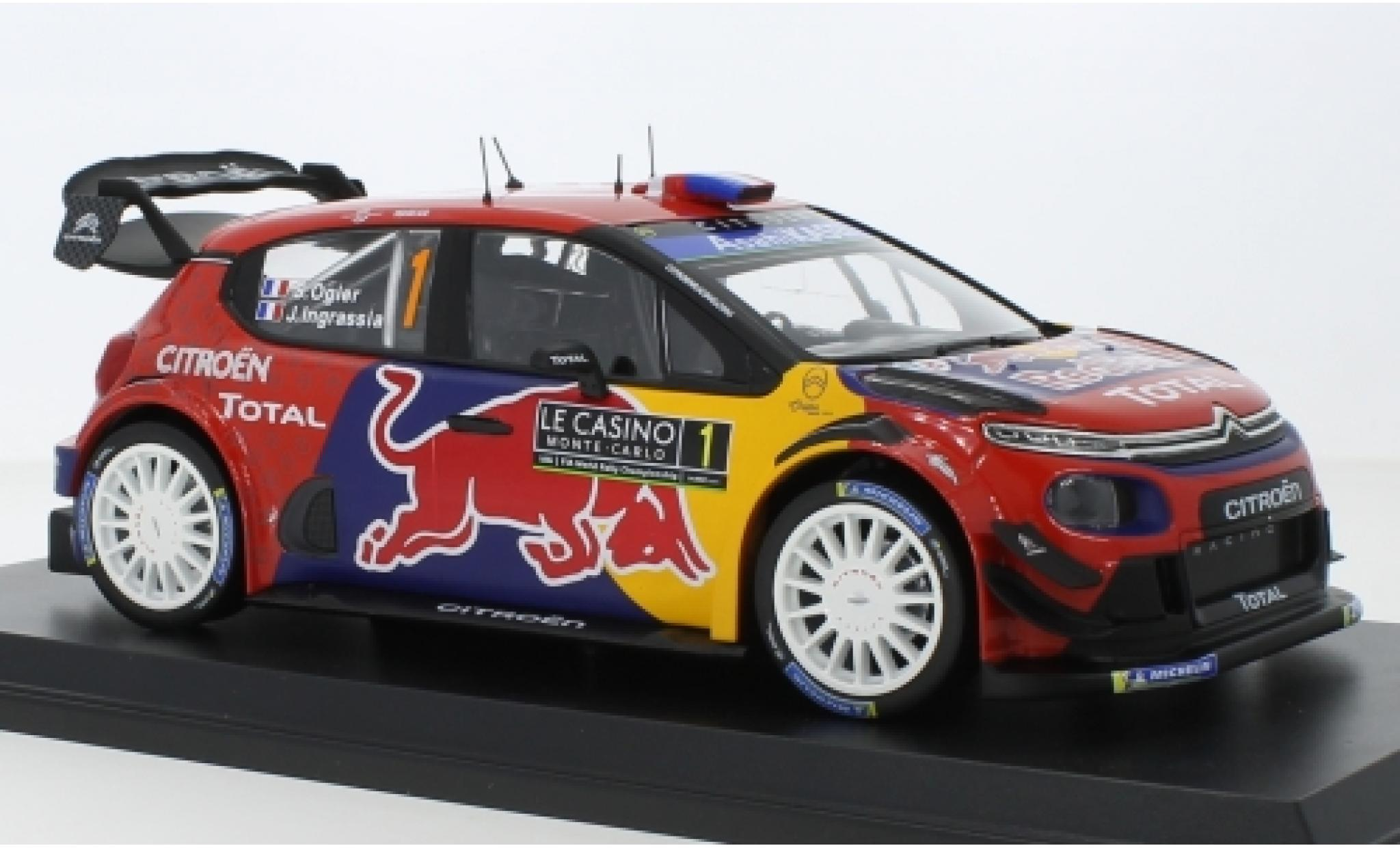 Citroen C3 1/18 Norev WRC No.1 Red Bull / Total WRC Rallye Monte Carlo 2019 S.Ogier/J.Ingrassia