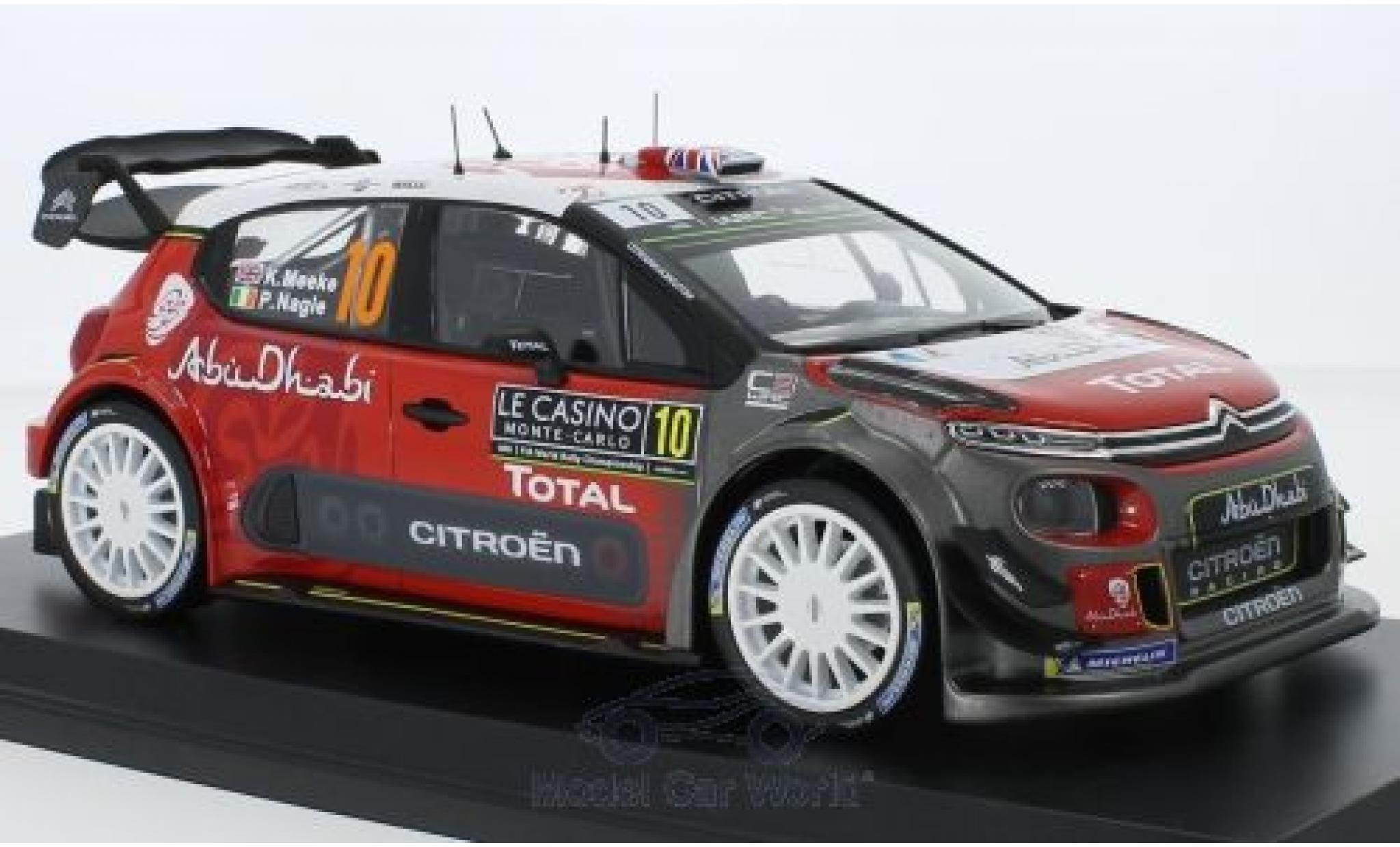 Citroen C3 1/18 Norev WRC No.10 Rallye WM Rallye Monte Carlo 2018 K.Meeke/P.Nagle