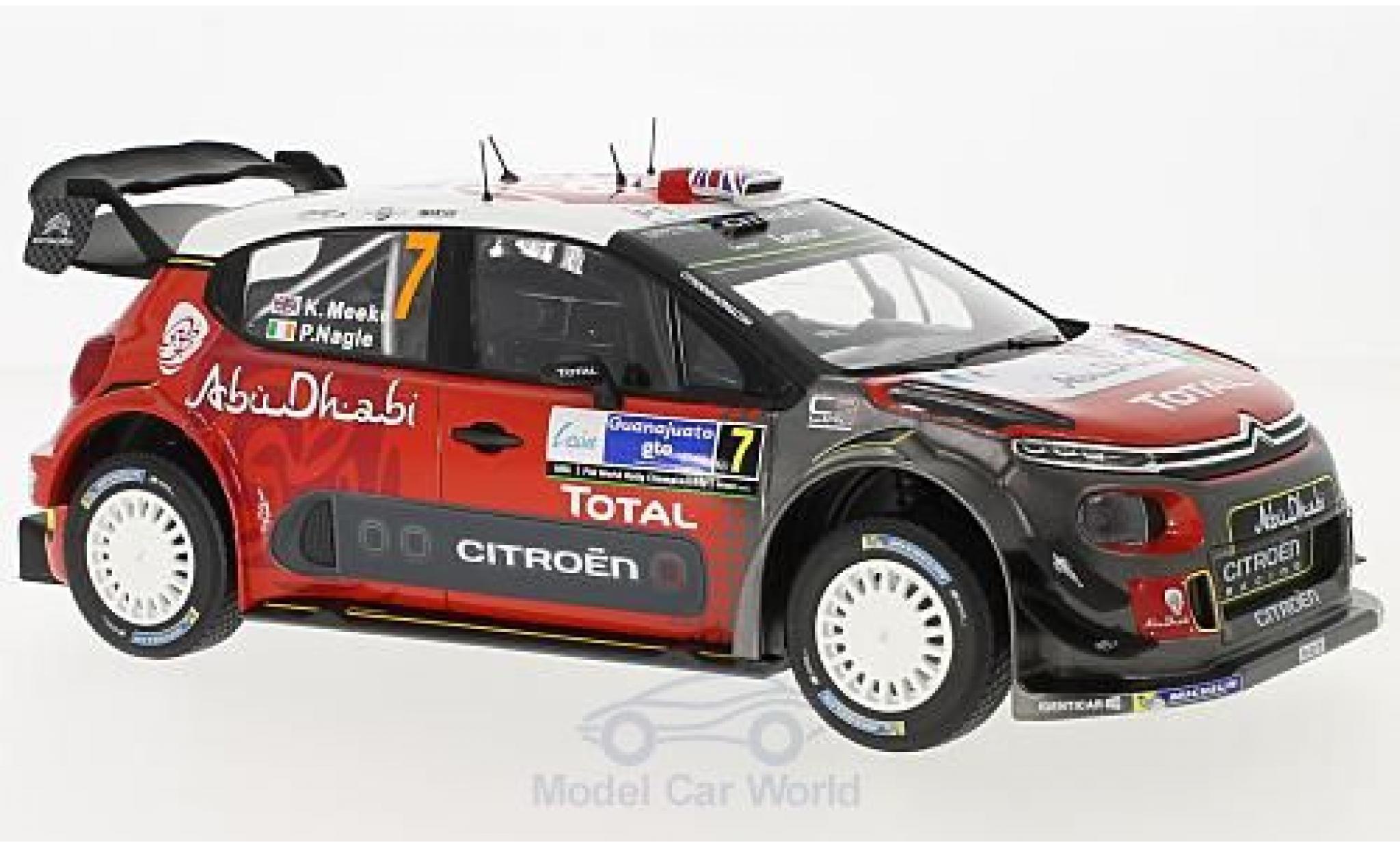 Citroen C3 1/18 Norev WRC No.7 Rallye WM Rallye Mexico 2017 K.Meeke/P.Nagle