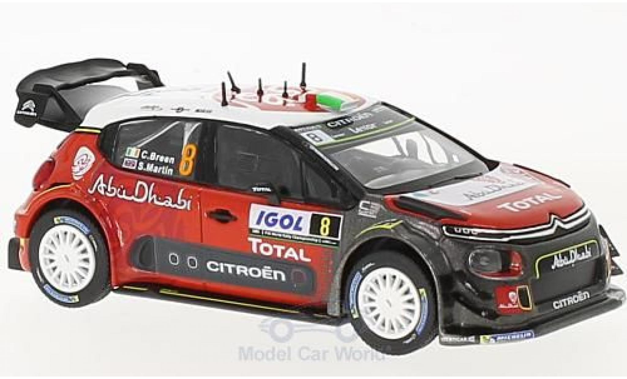 Citroen C3 1/43 Norev WRC No.8 WRC Rallye Tour de Corse 2017 C.Breen/S.Martin