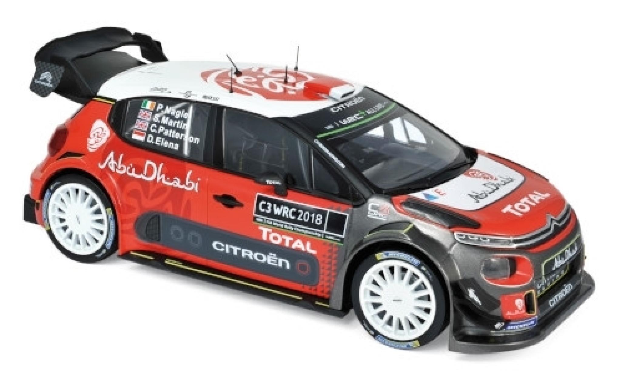 Citroen C3 1/18 Norev WRC Rallye WM 2018 Presentation Version