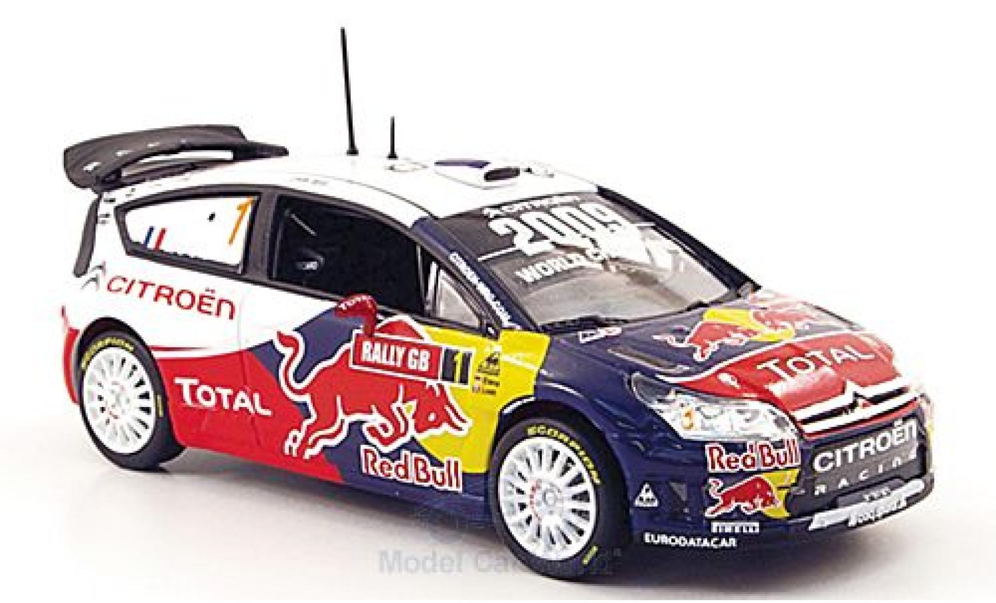 Citroen C4 WRC 1/43 Norev No.1 Racing Red Bull Total Rally GB 2009 S.Loeb/D.Elena
