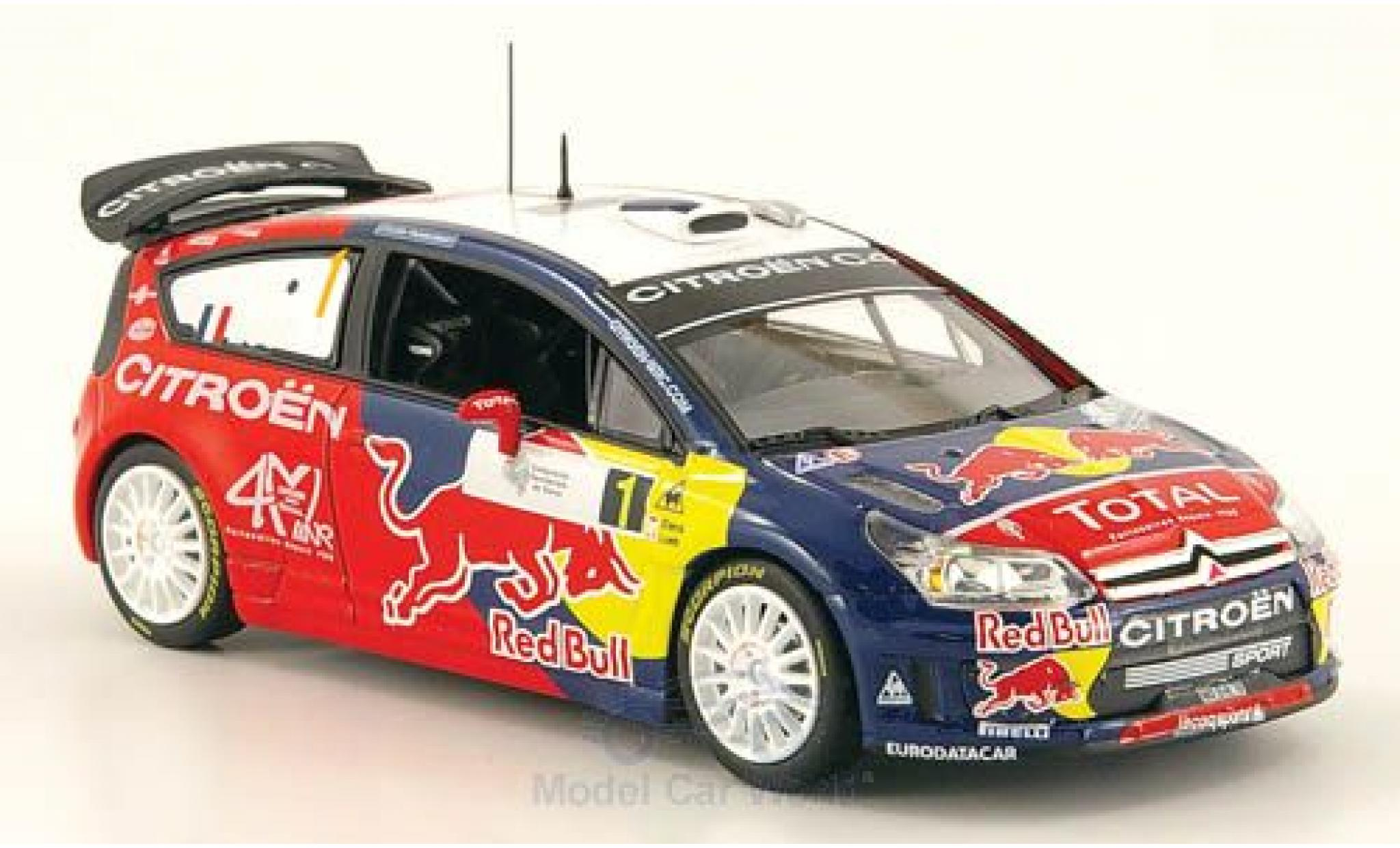 Citroen C4 WRC 1/43 Norev WRC No.1 Red Bull Tour de Corse 2008