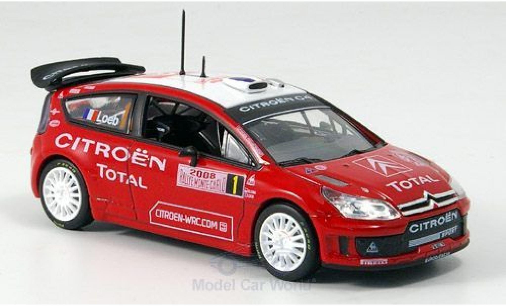 Citroen C4 WRC 1/43 Norev Rallye Monte-Carlo 2008