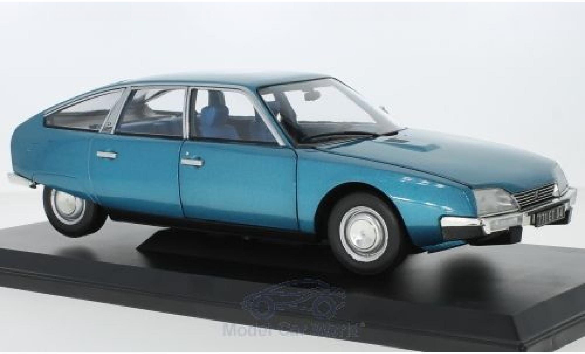 Citroen CX 1/18 Norev 2000 métallisé bleue 1974