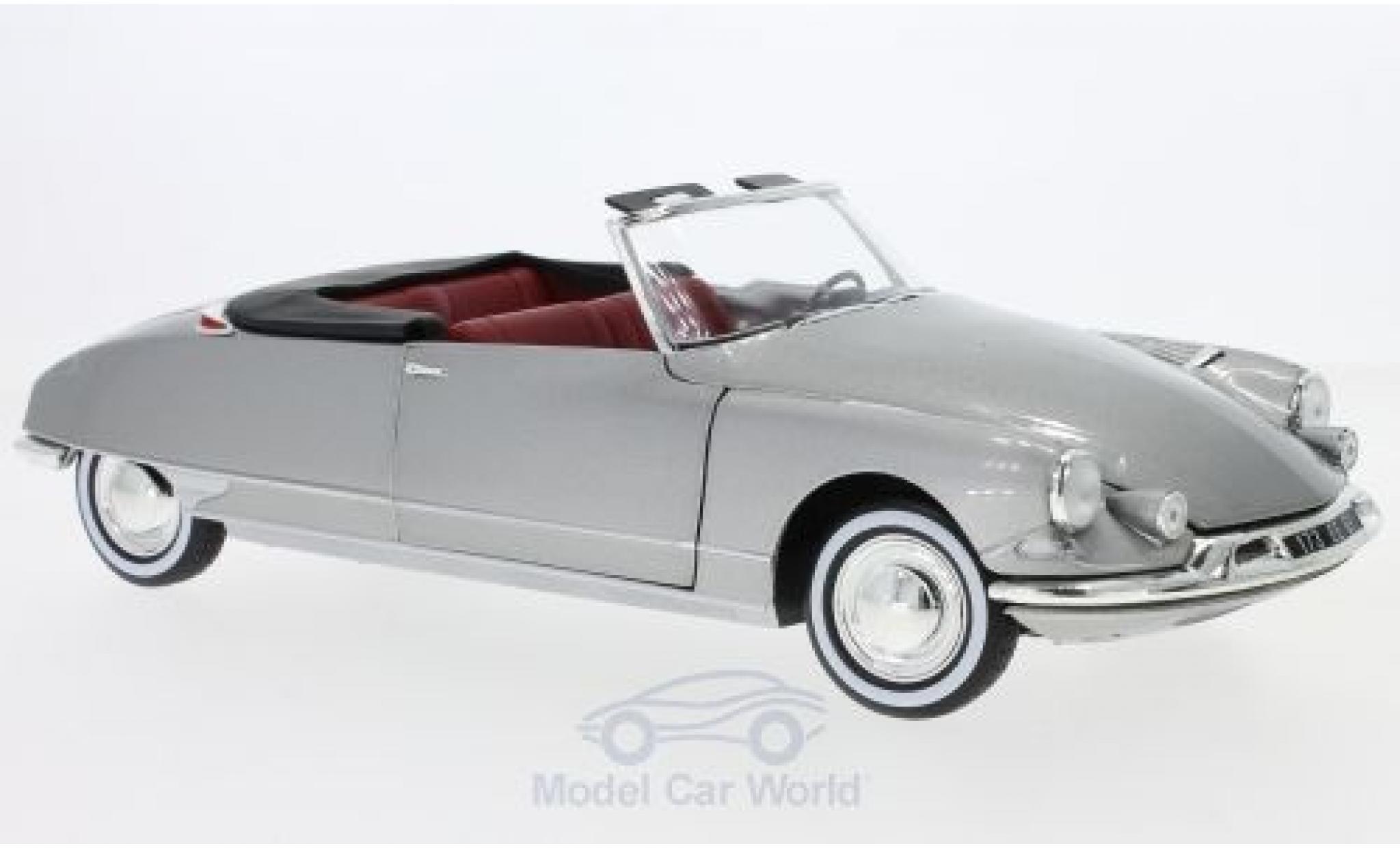 Citroen DS 1/18 Norev 19 Cabriolet métallisé grise 1961 SoftTop liegt bei