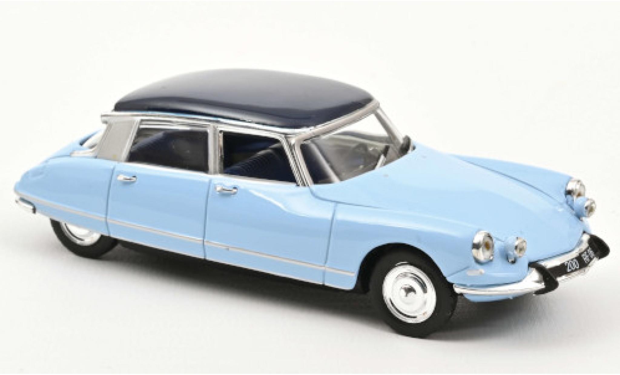 Citroen DS 1/43 Norev 21 Pallas blue/blue 1967