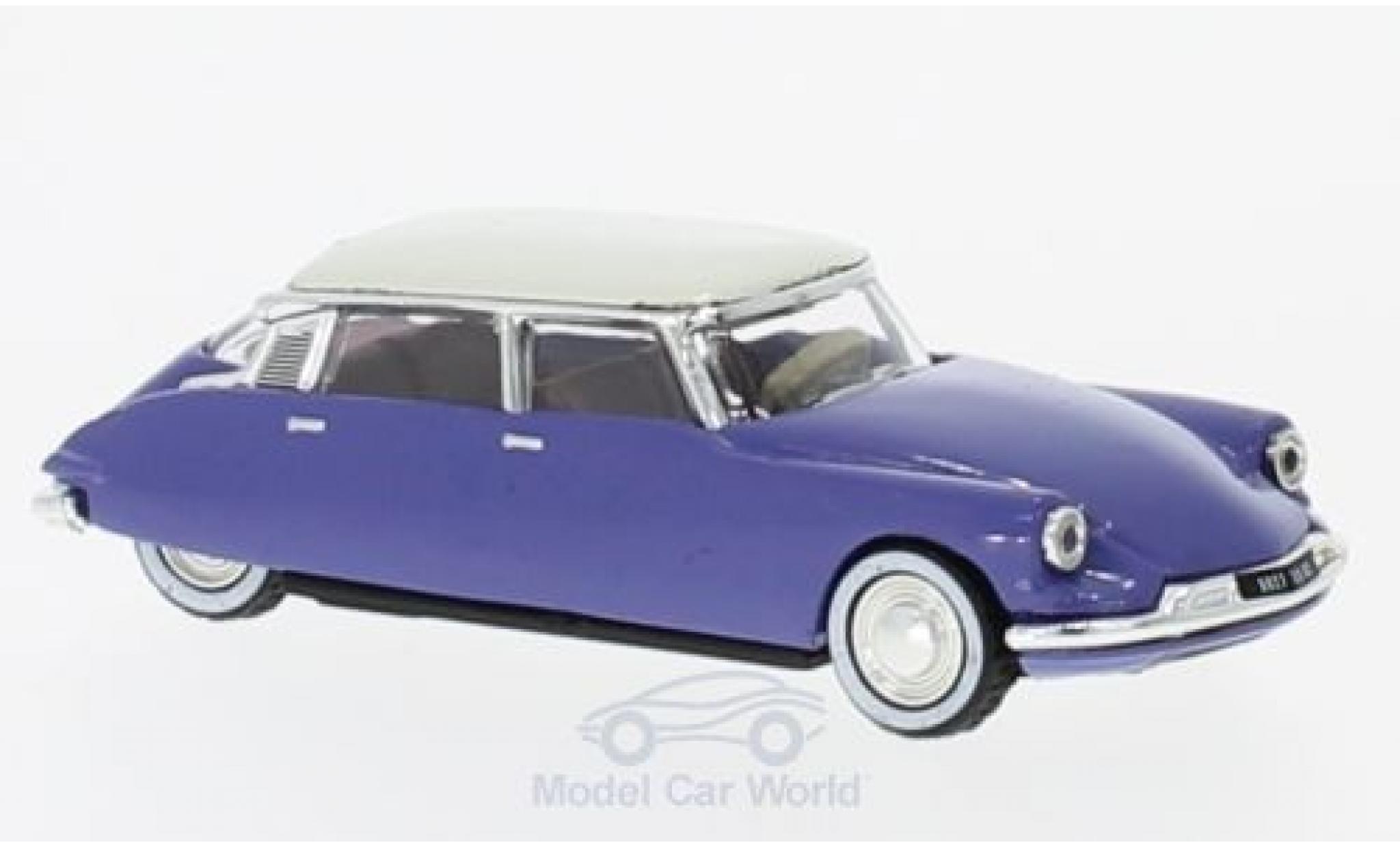Citroen DS 19 1/87 Norev 19 bleue/blanche 1959