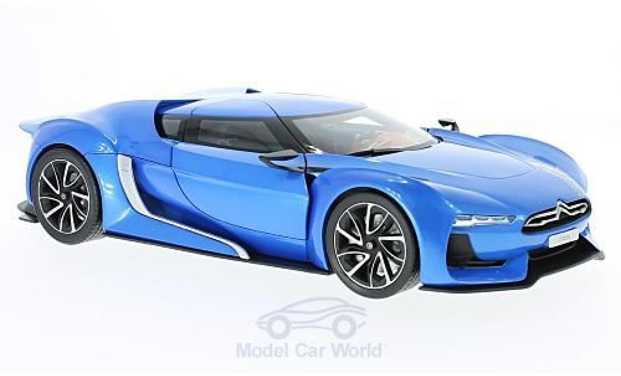 Citroen GT 1/18 Norev metallise bleue 2008