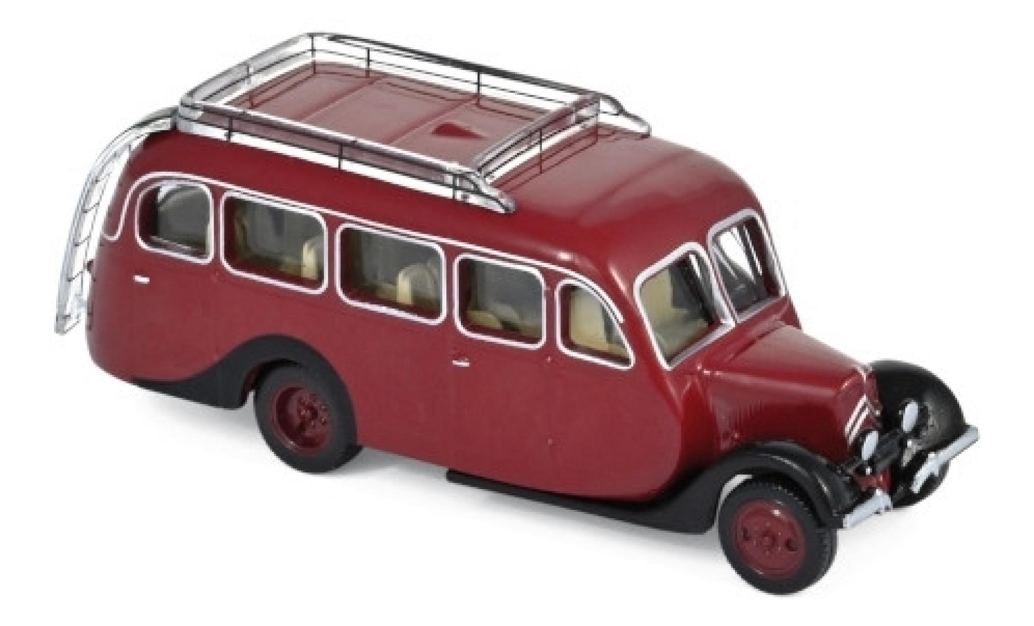 Citroen U23 1/87 Norev Autocar rouge/noire 1947