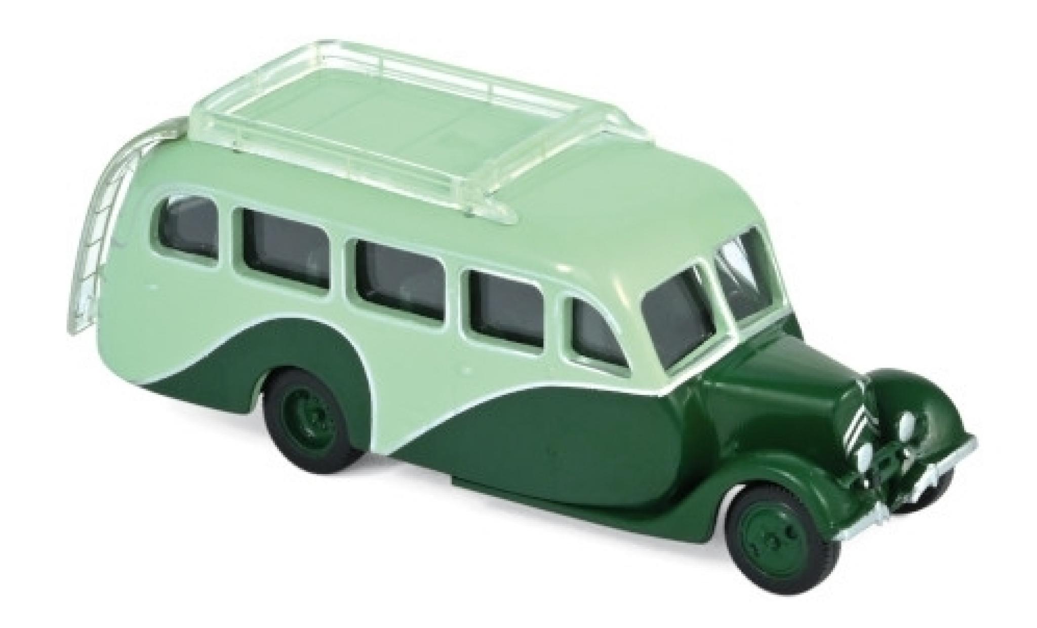 Citroen U23 1/87 Norev Autocar verte/verte 1947