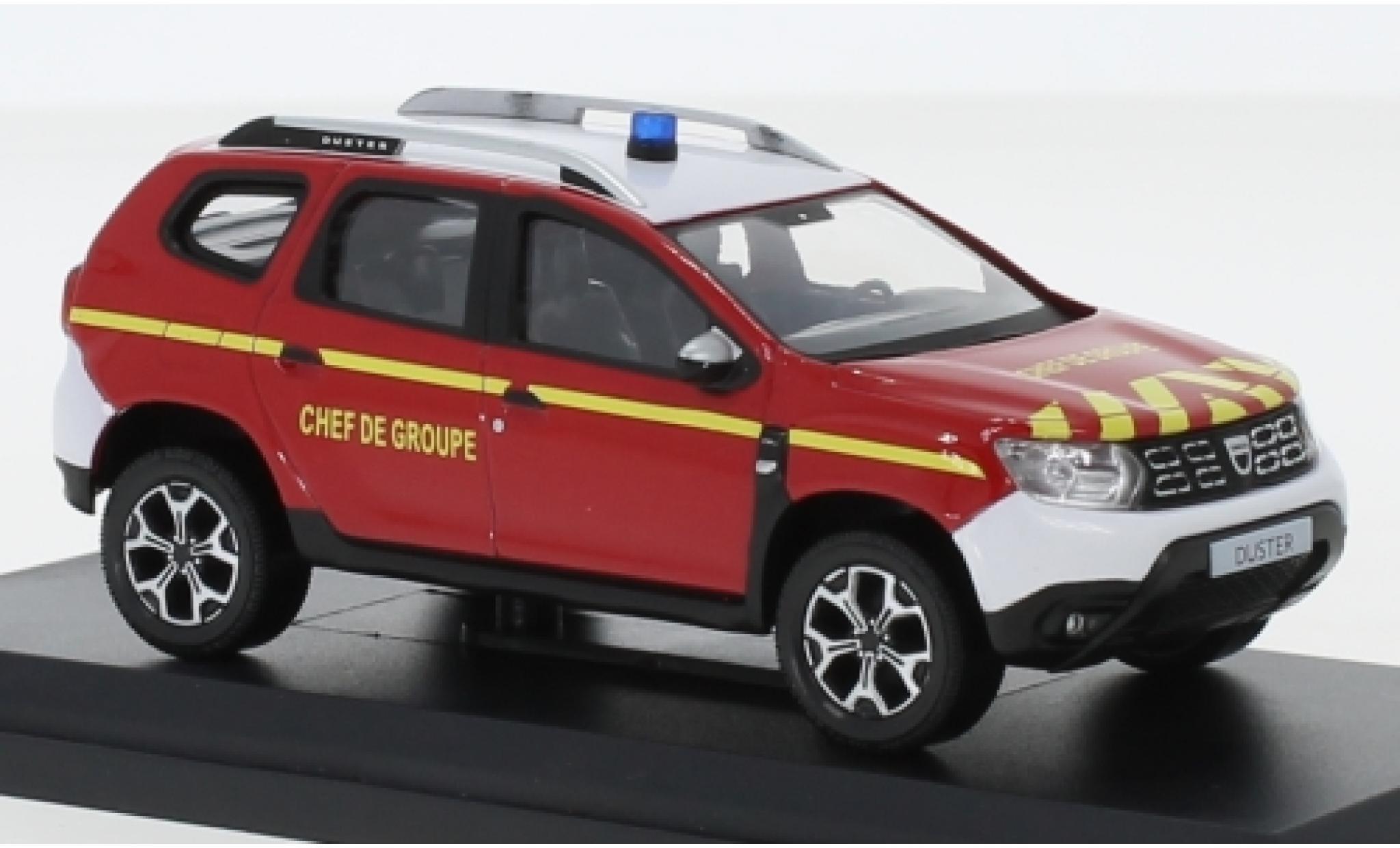 Dacia Duster 1/43 Norev Pompiers - Chef de Groupe 2018