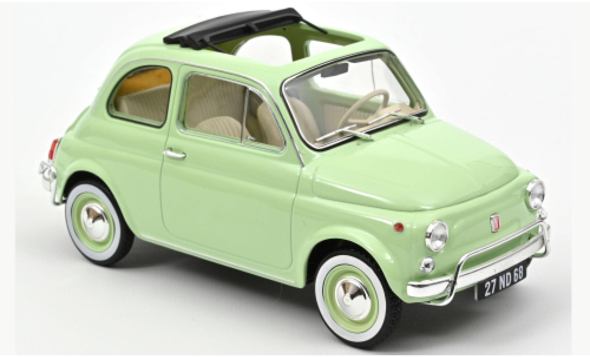Fiat 500 1/18 Norev L verte 1968