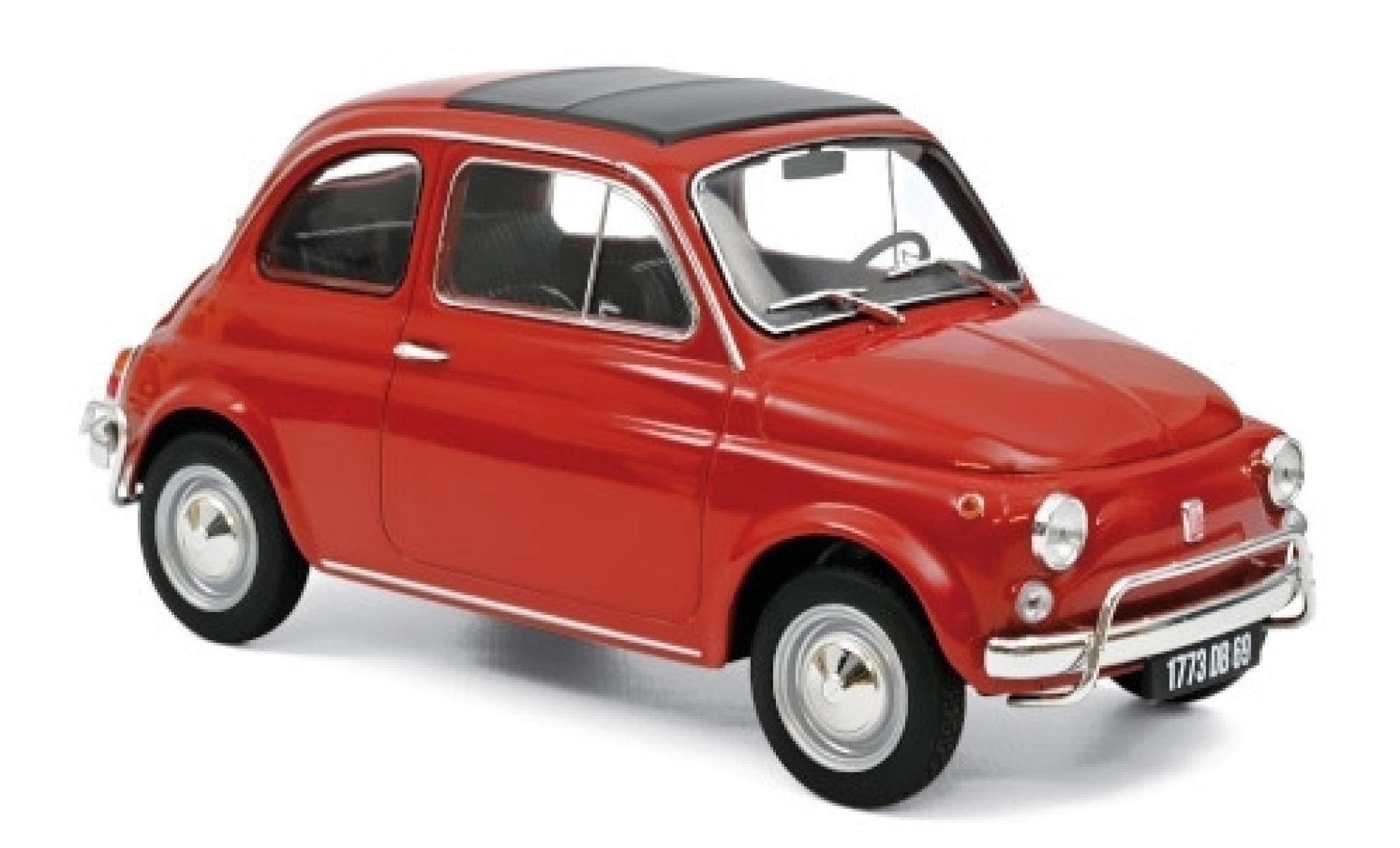 Fiat 500 1/18 Norev L red 1968