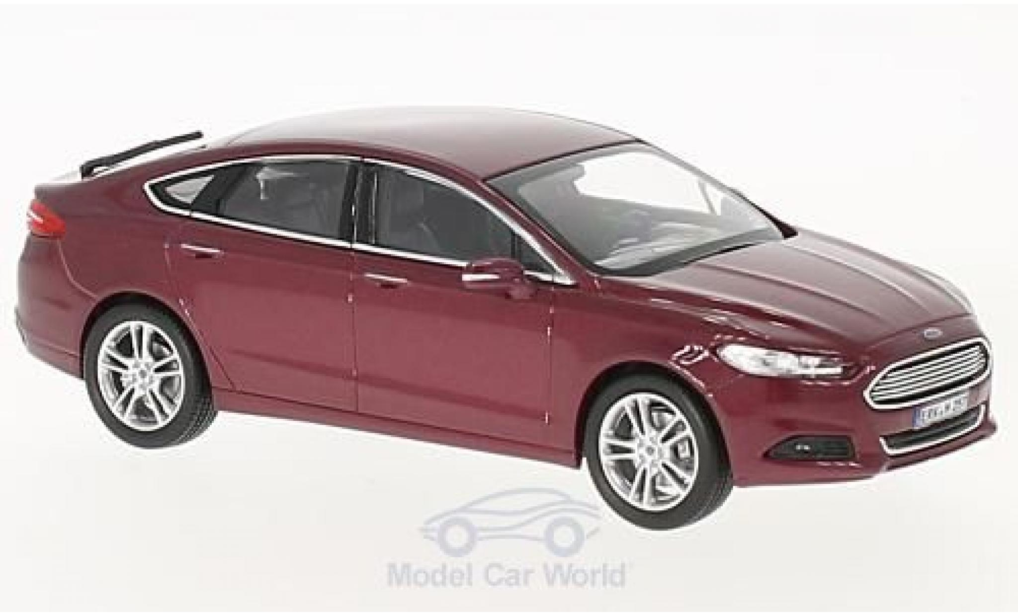 Ford Mondeo 1/43 Norev métallisé rouge 2014