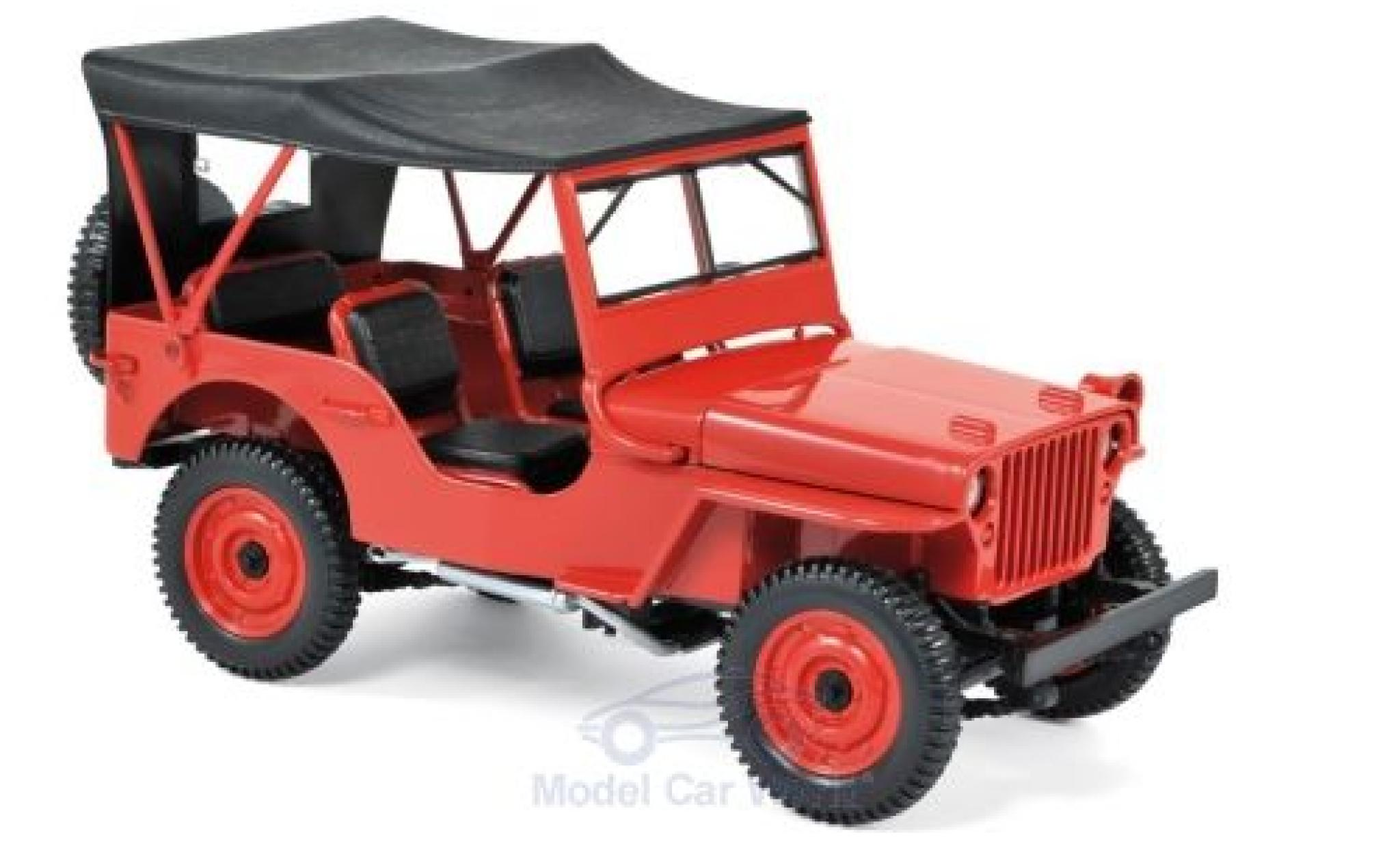 Jeep Willys 1/18 Norev red 1942