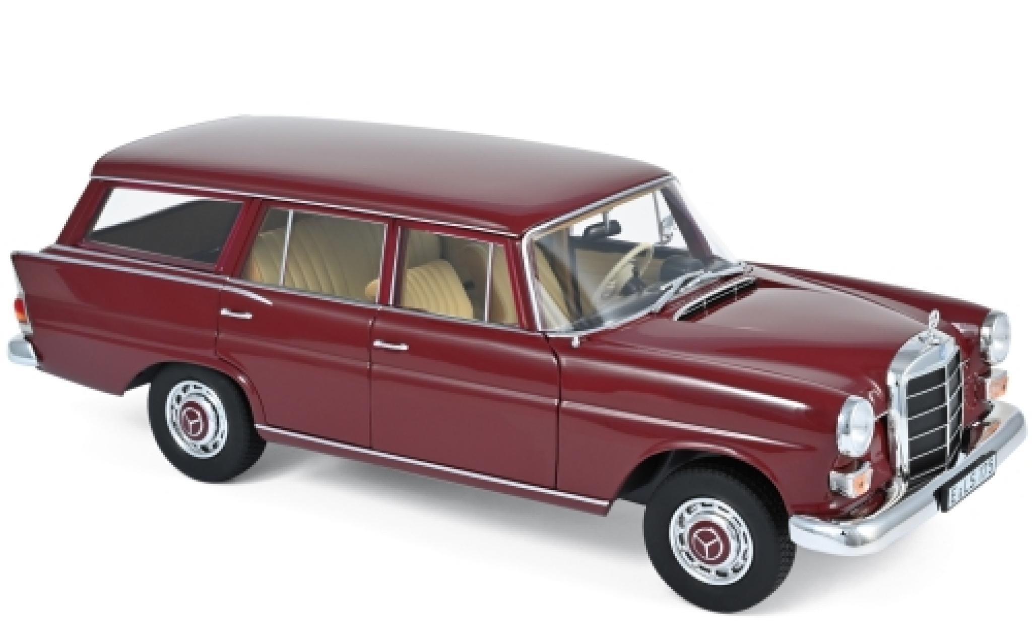 Mercedes 200 1/18 Norev Universal rouge 1966