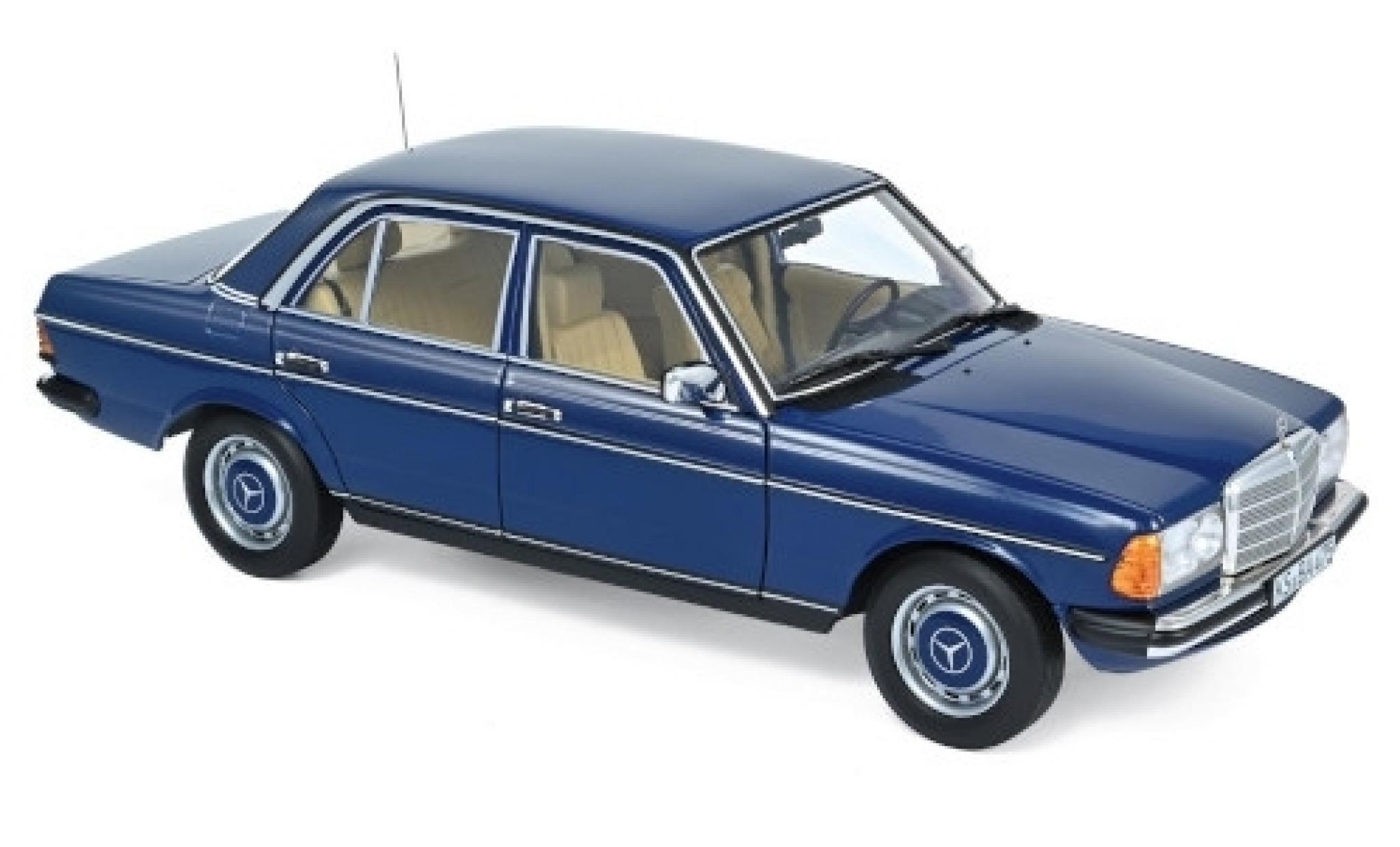 Mercedes 200 1/18 Norev (W123) bleue 1982