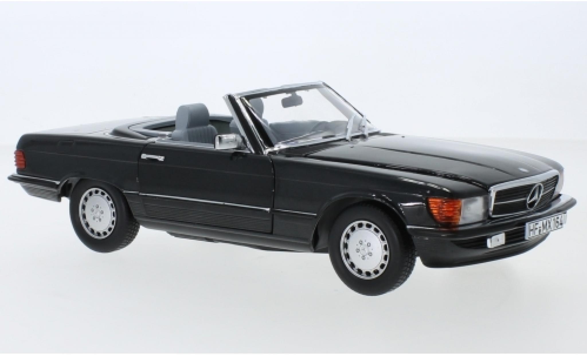 Mercedes 300 1/18 Norev SL (R107) metallise anthrazit 1986 avec détachable Hardtop