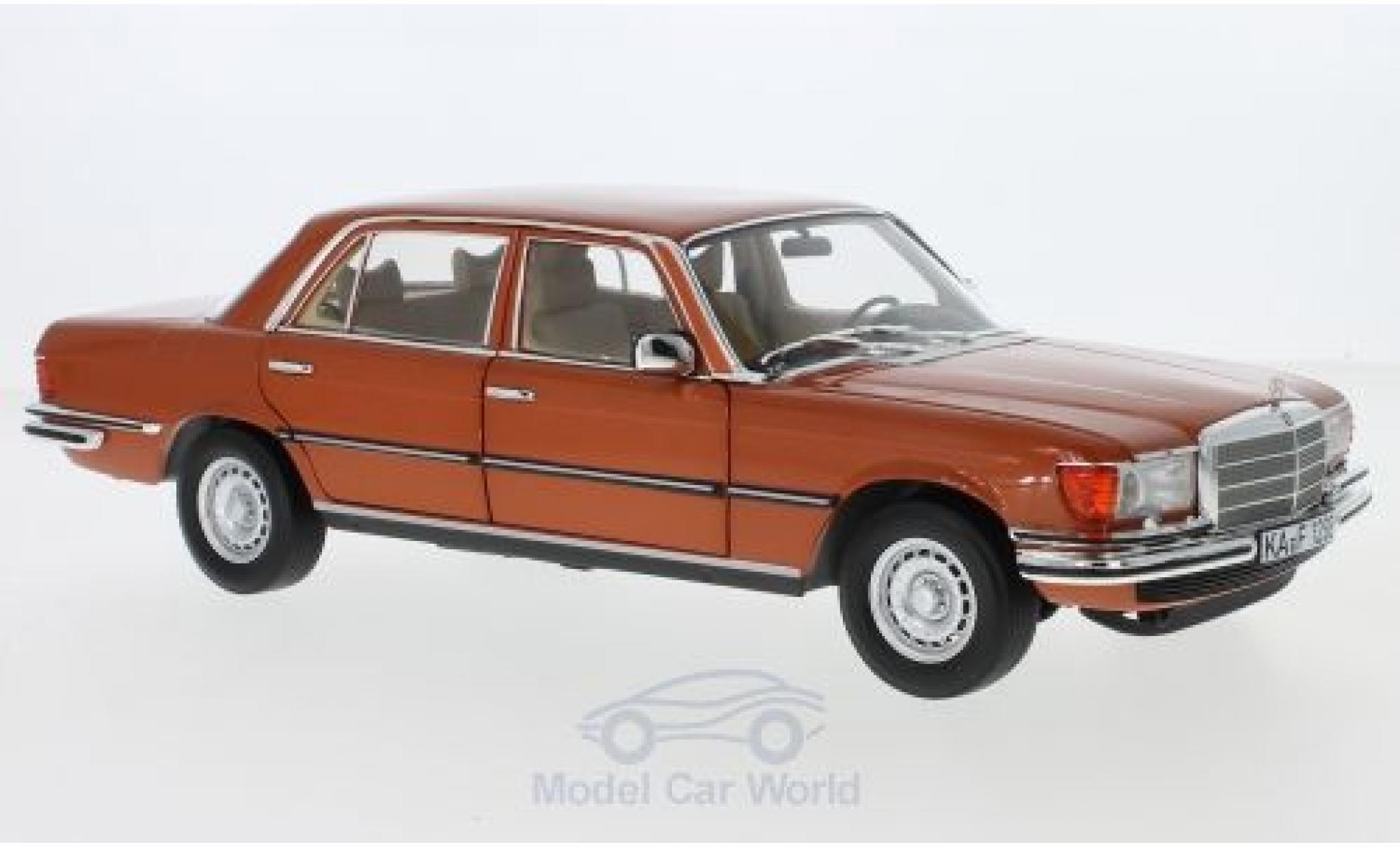Mercedes 450 SEL 1/18 Norev 6.9 (V116) metallise orange 1976