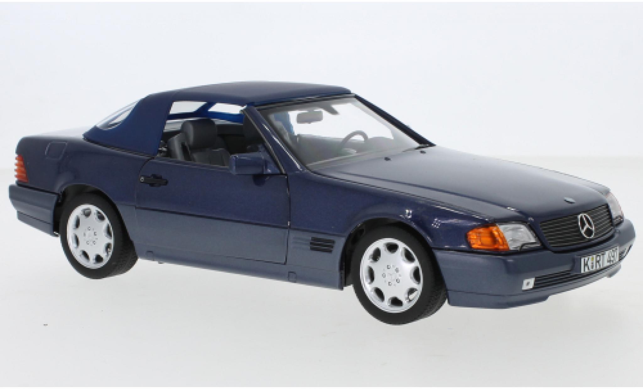 Mercedes 500 1/18 Norev SL (R129) metallise bleue 1989