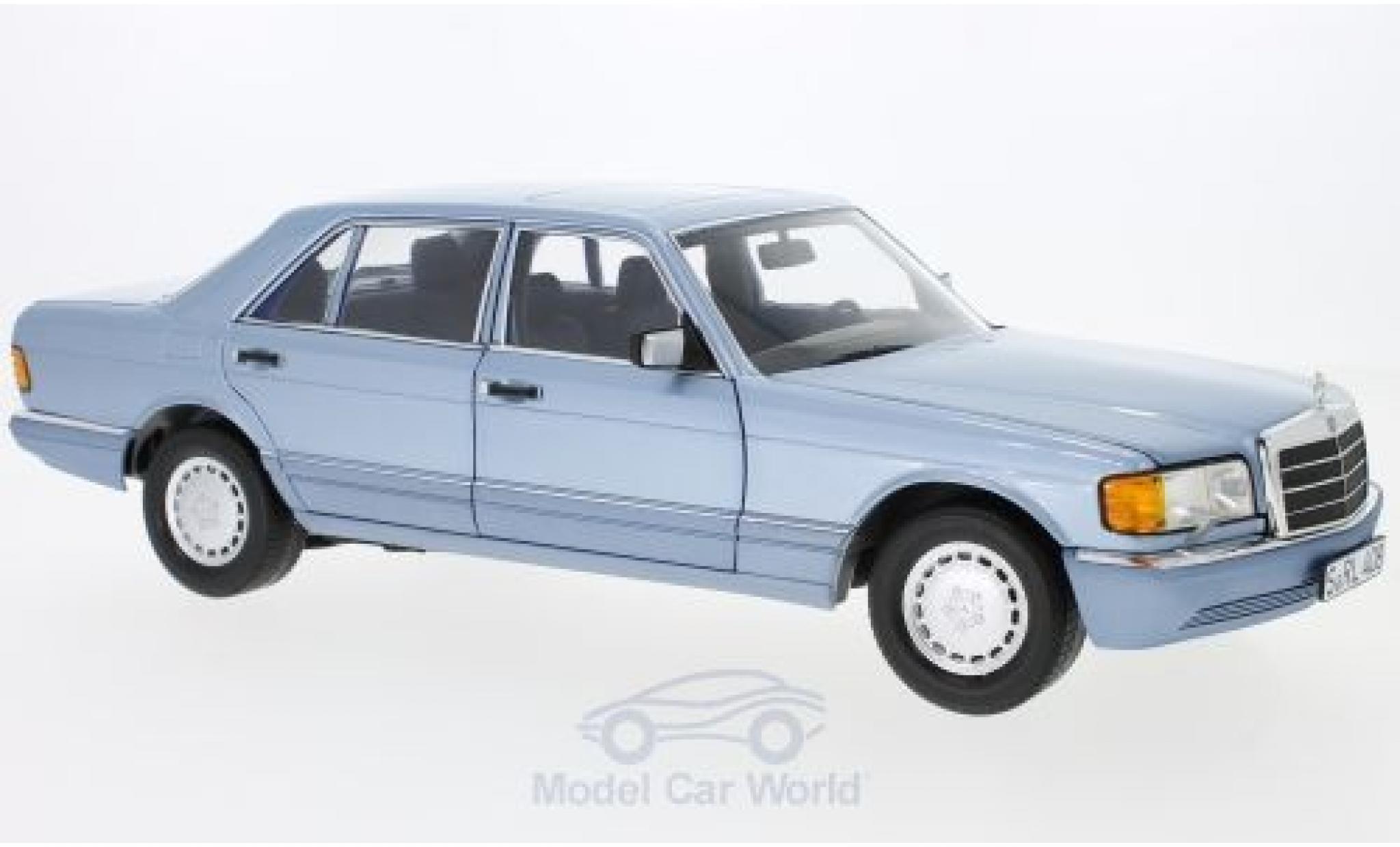 Mercedes 560 SEL 1/18 Norev (W126) metallise bleue 1991