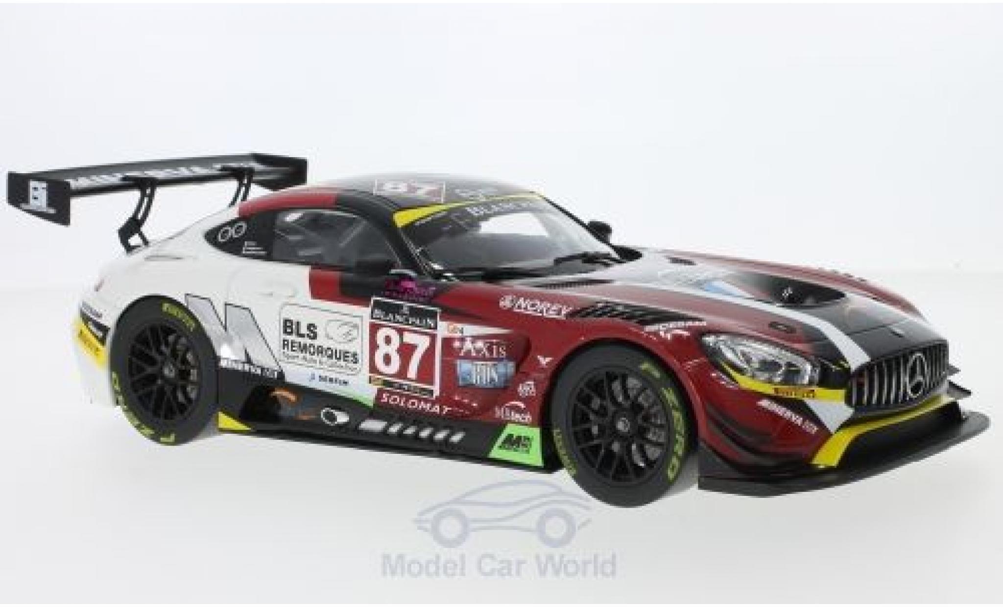 Mercedes AMG GT 1/18 Norev 3 No.87 Blancpain GT Series Monza 2016 J.-C.Beaubelique/M.Ricci/G.Vannelet
