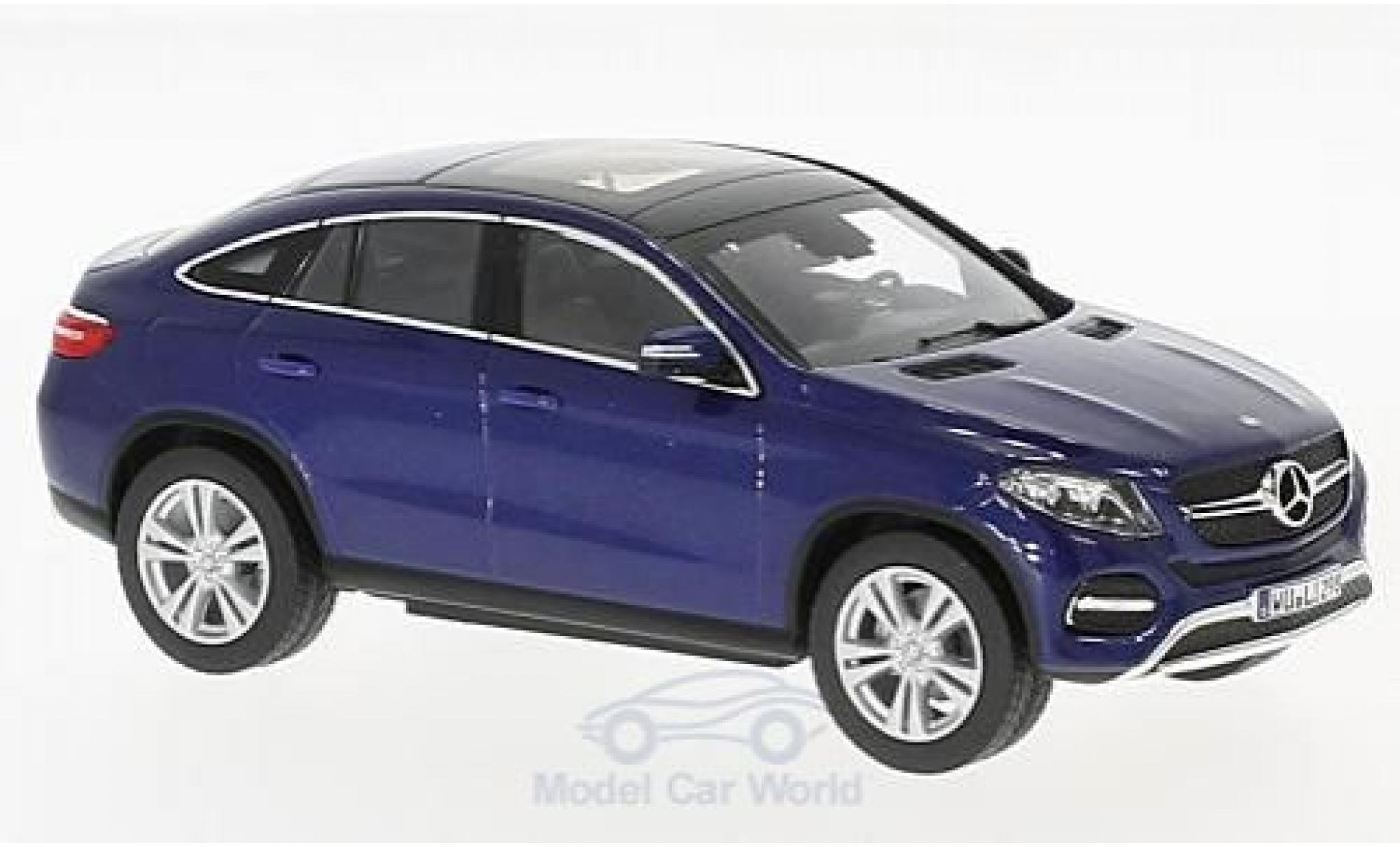 Mercedes Classe GLE 1/43 Norev GLE Coupe (C292) metallise bleue 2015