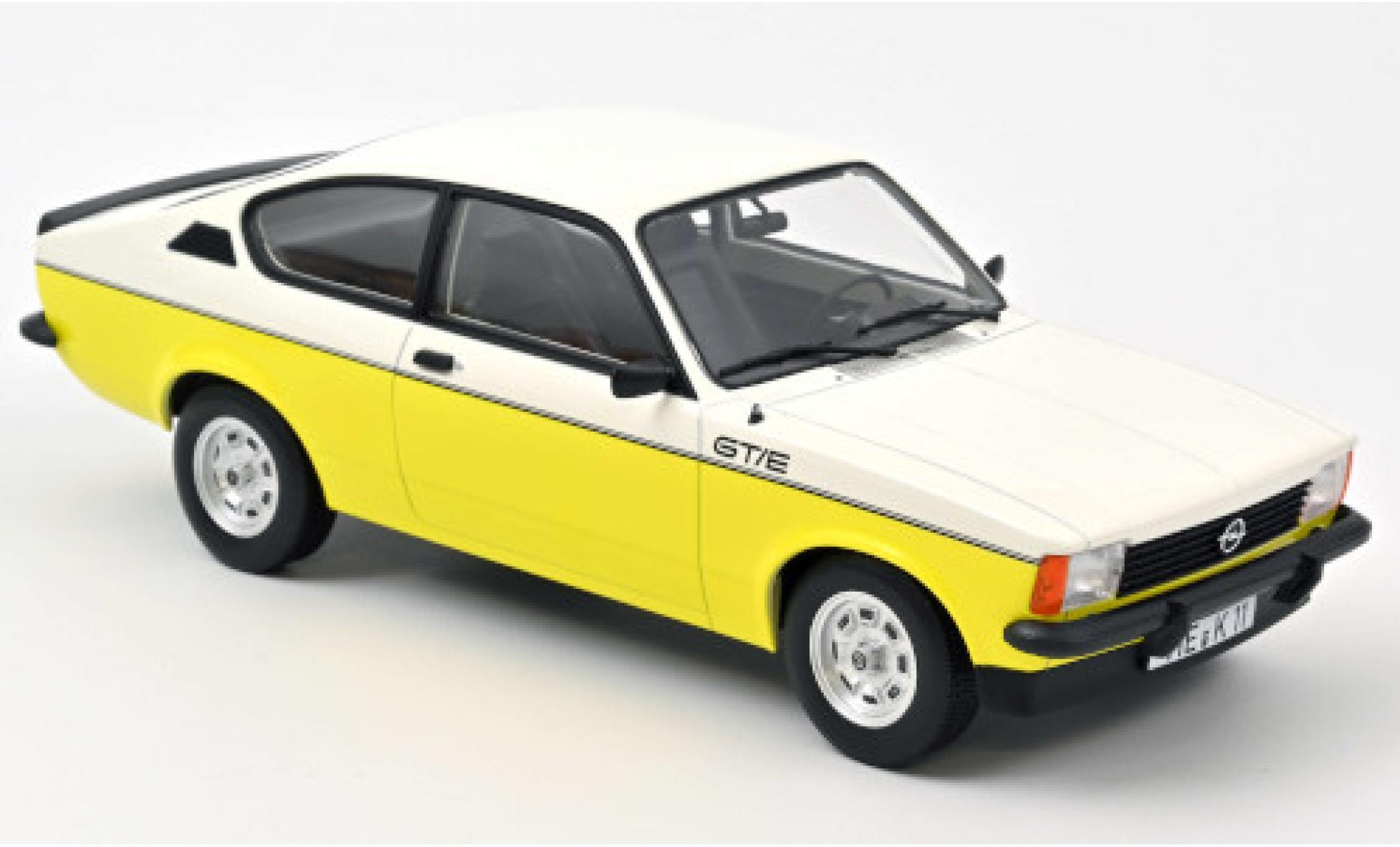 Opel Kadett 1/18 Norev C GT/E blanche/jaune 1977