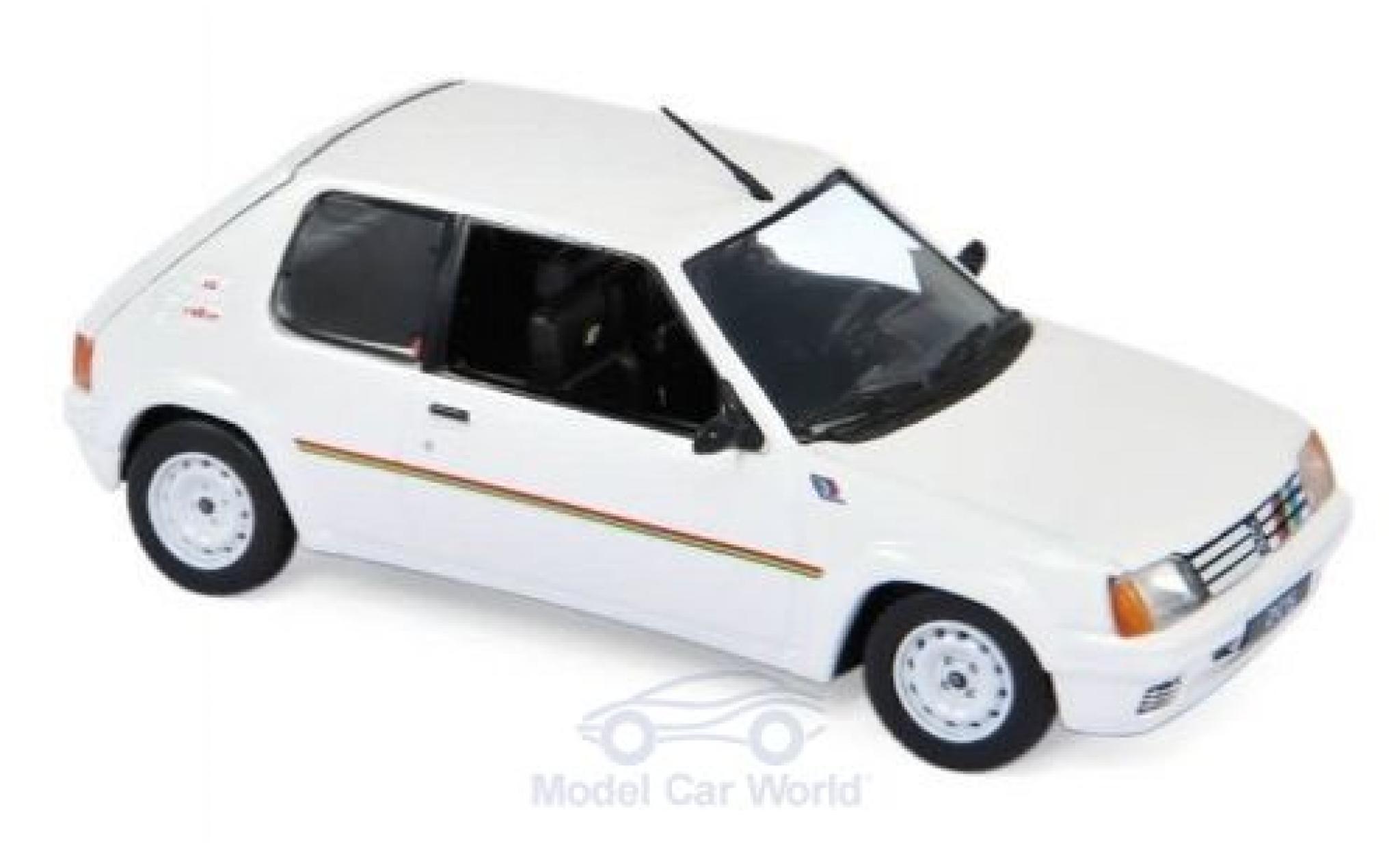Peugeot 205 1/43 Norev Rallye blanche/Dekor 1988