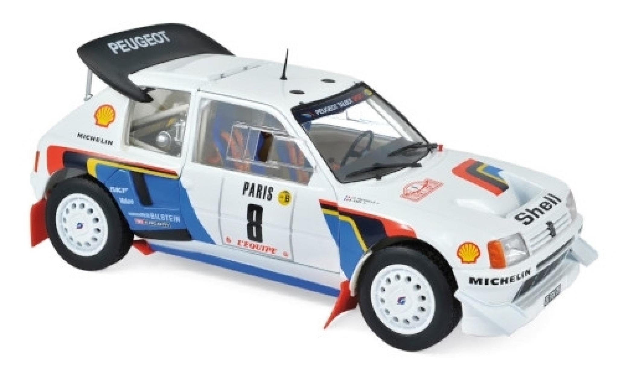 Peugeot 205 1/18 Norev T16 Evo No.8 Rallye WM Rallye Monte Carlo 1986 B.Saby/J-F.Fauchille