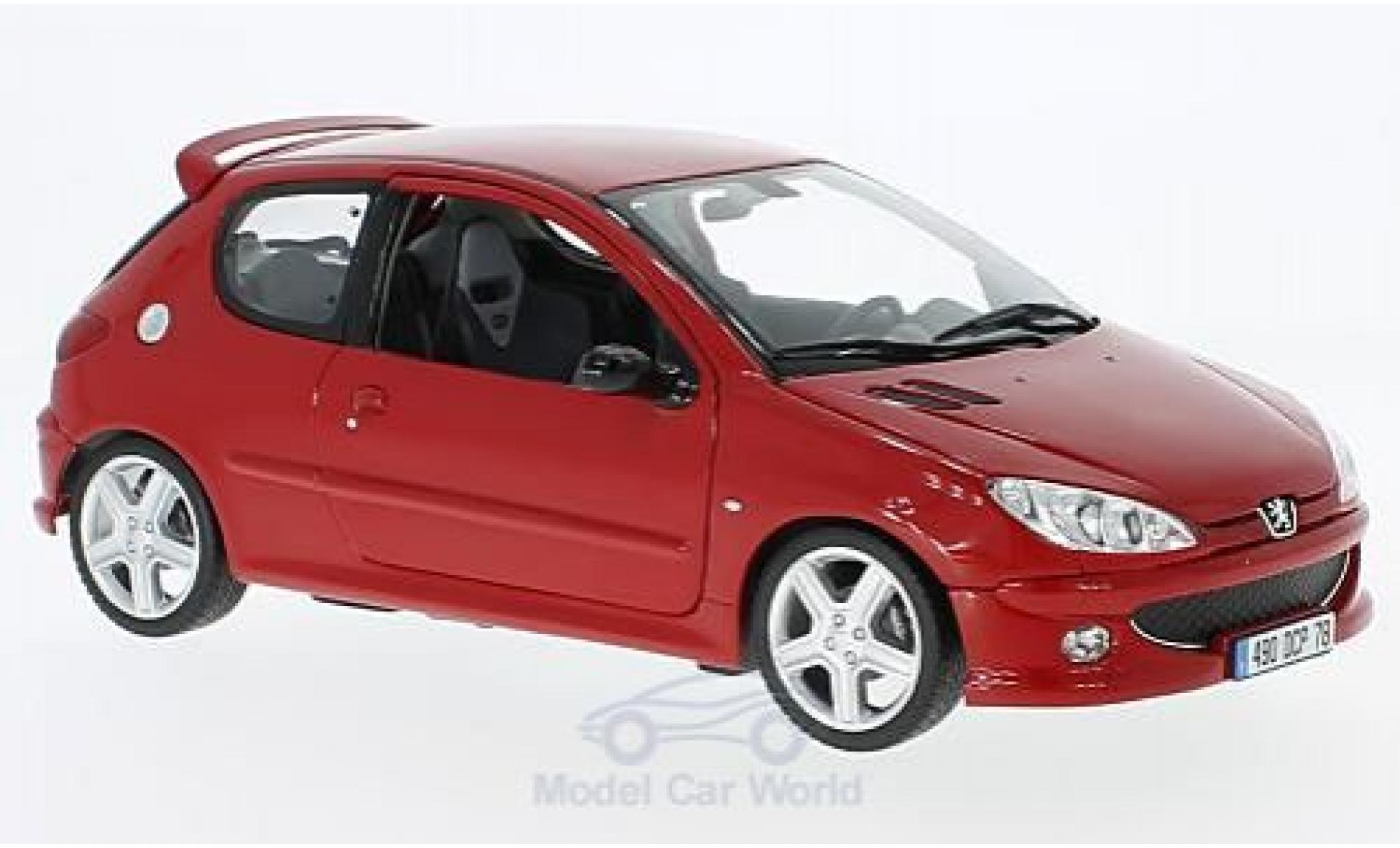 Peugeot 206 RC 1/18 Norev RC rouge 2003
