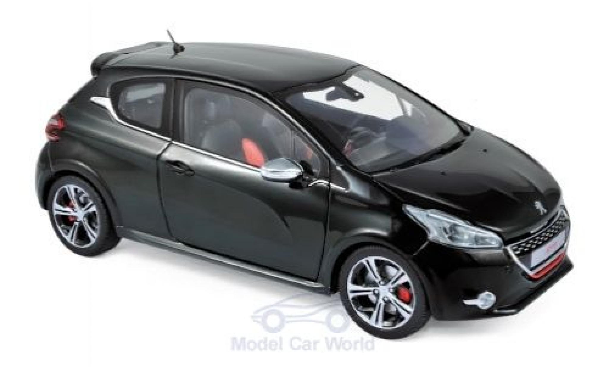 Peugeot 208 1/18 Norev GTi metallise noire 2013