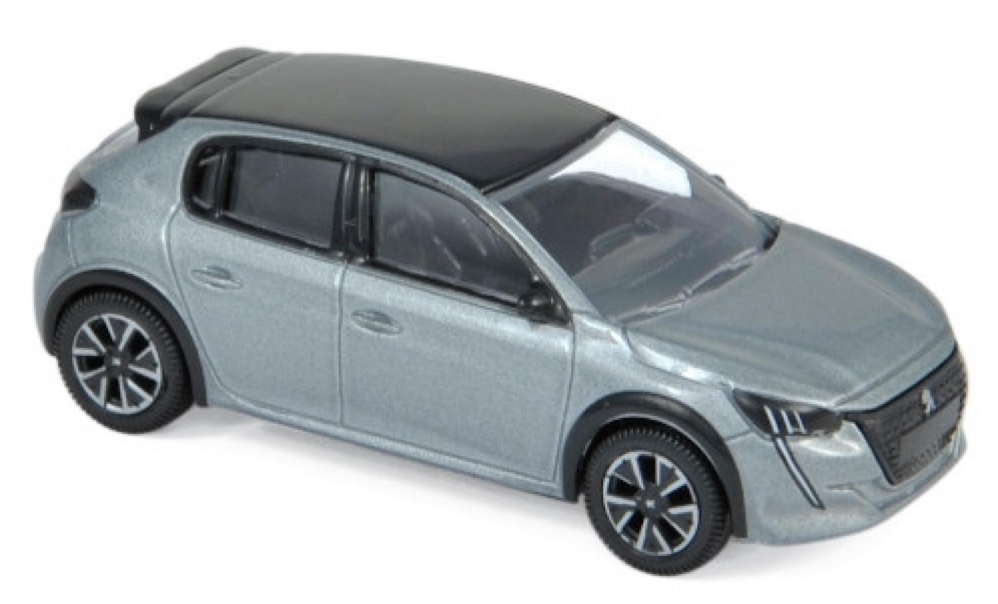 Peugeot 208 1/64 Norev metallise grise/noire 2019