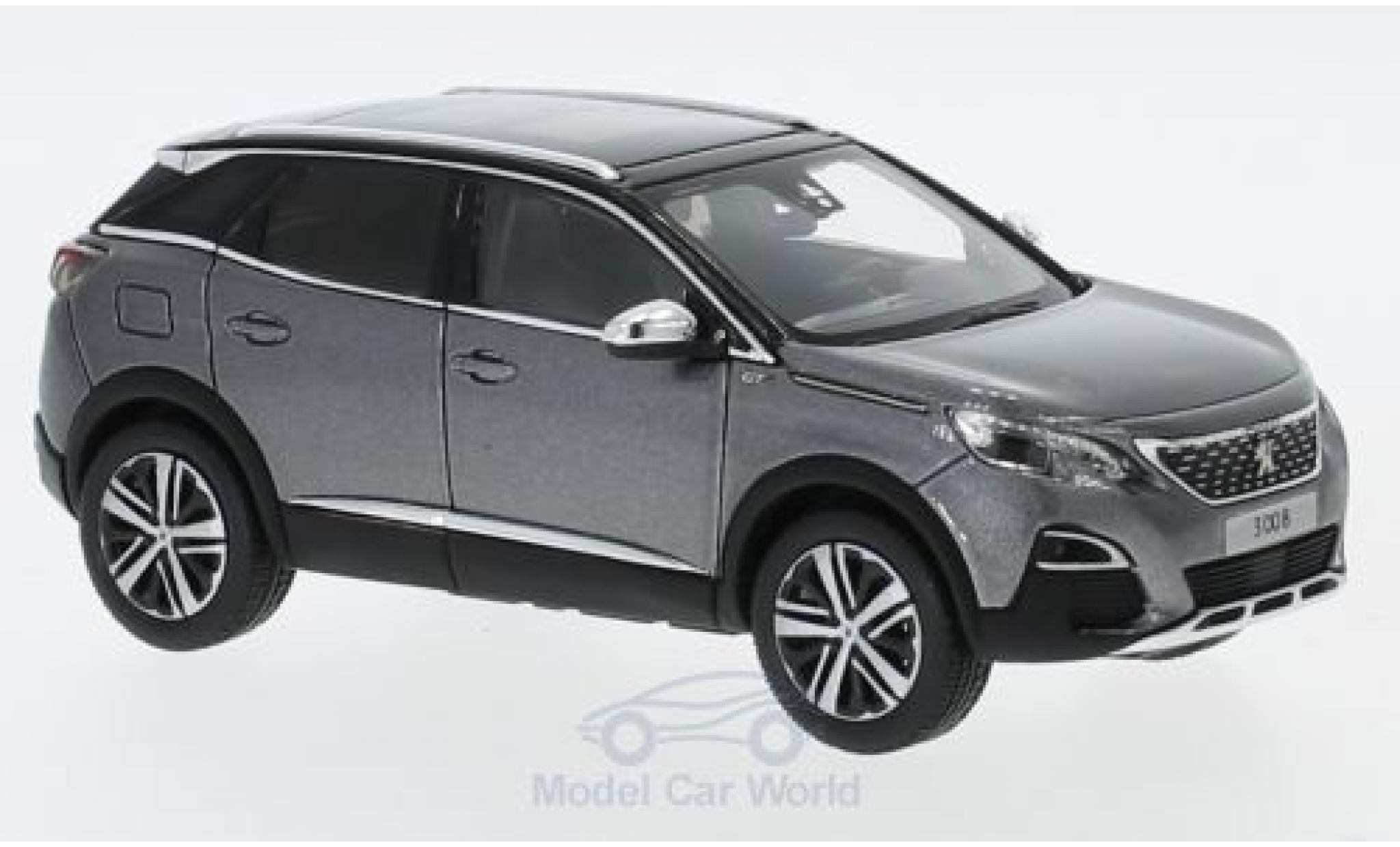 Peugeot 3008 1/43 Norev GT metallic-grise 2016