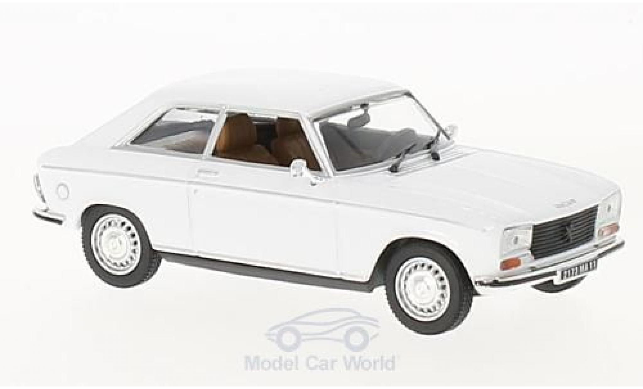 Peugeot 304 coupe 1/43 Norev Coupe S blanche 1974