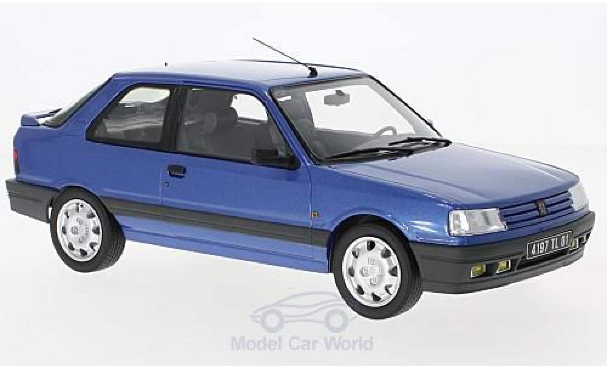 Peugeot 309 GTI 16 1/18 Norev GTI 16 métallisé bleue 1991