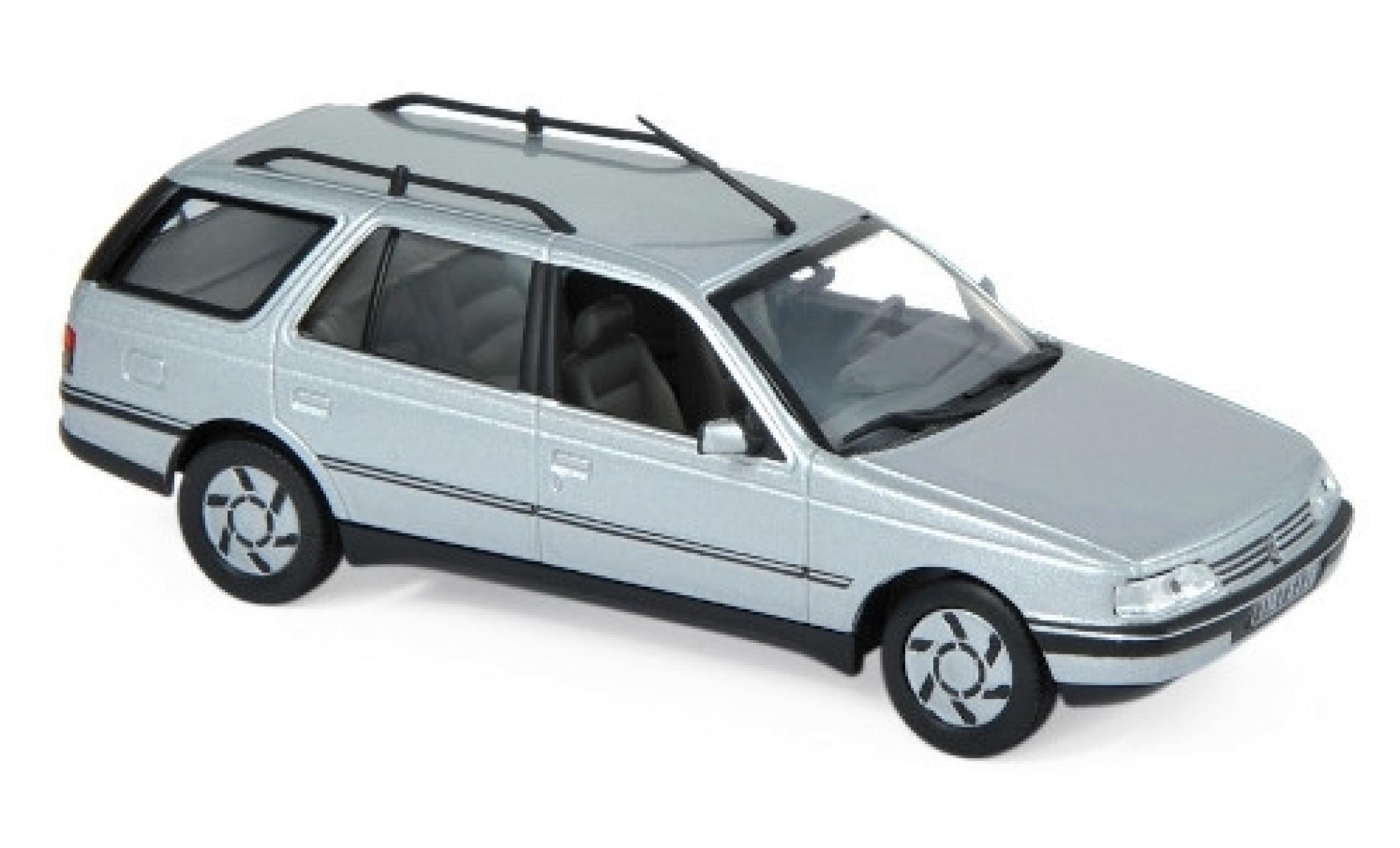Peugeot 405 1/43 Norev Break metallise grise 1991