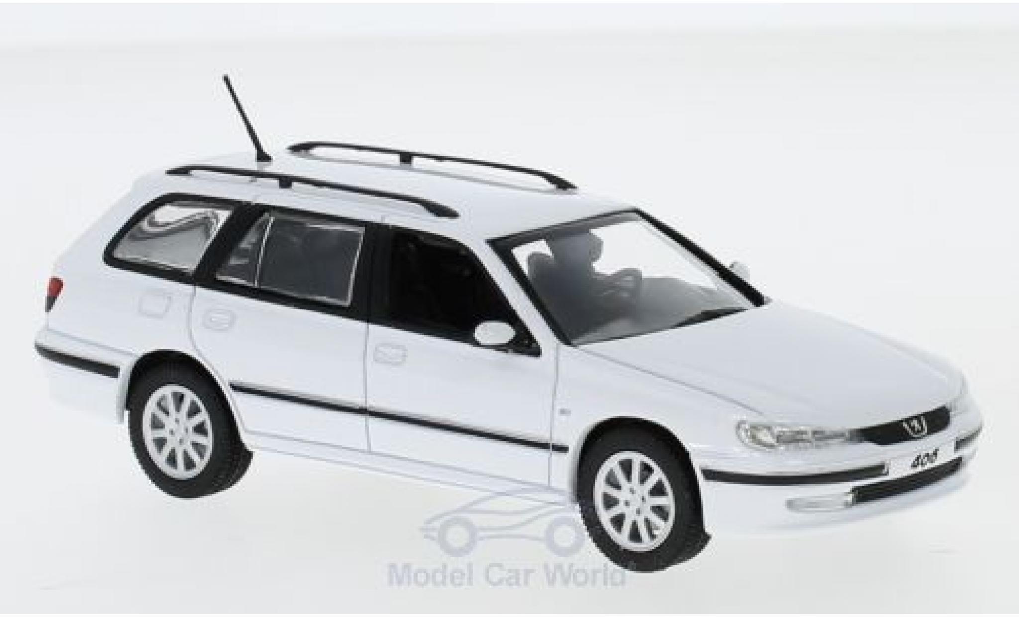 Peugeot 406 1/43 Norev Break blanche 2003