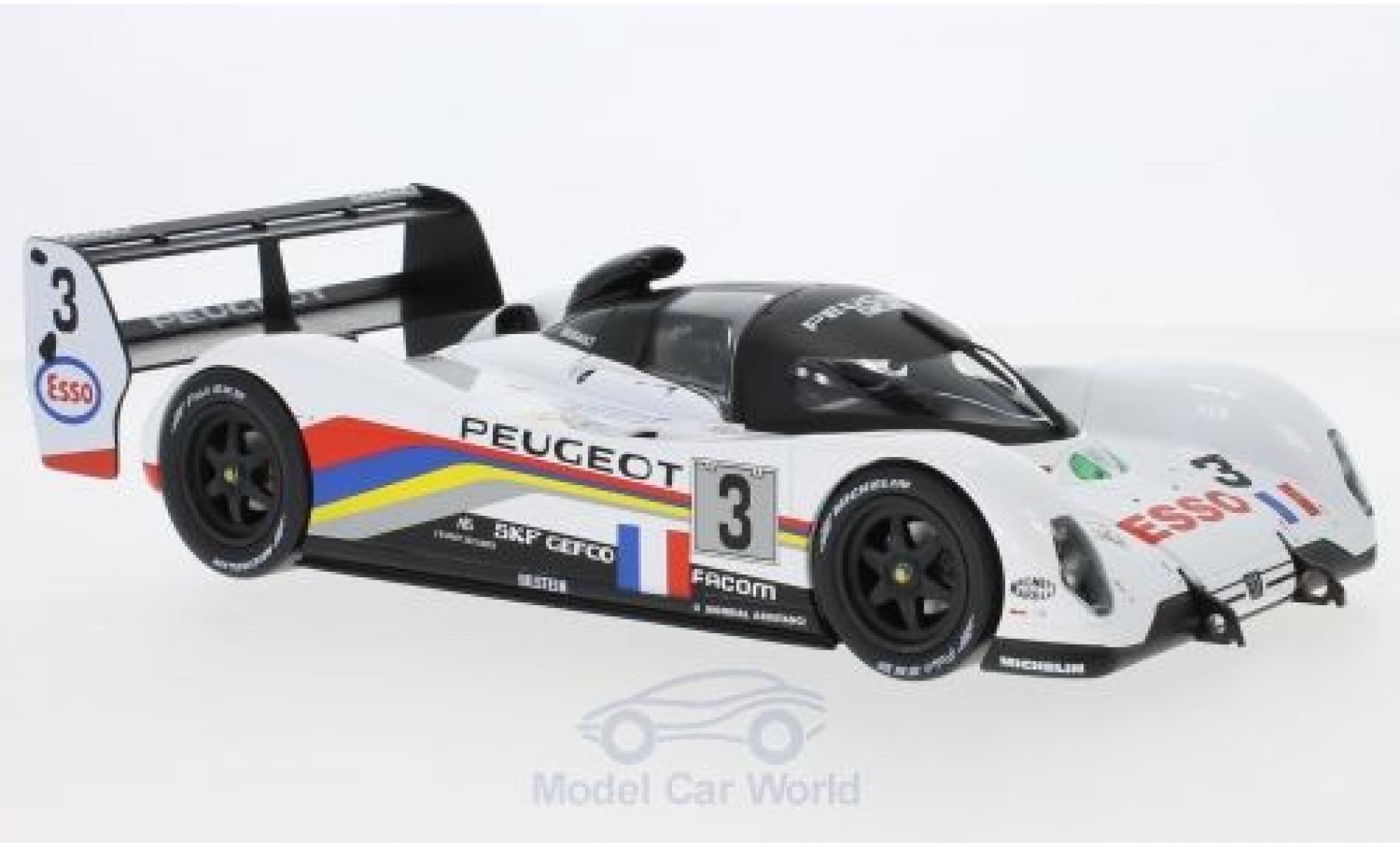 Peugeot 905 1/18 Norev No.3 24h Le Mans 1993 C.Bouchut/E.Helary/G.Brabham