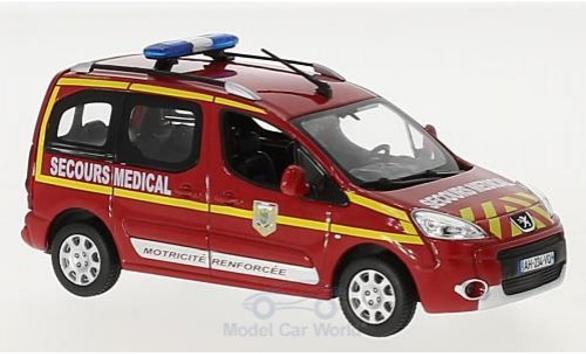 Peugeot Partner 1/43 Norev Pompiers Secours Medical 2010