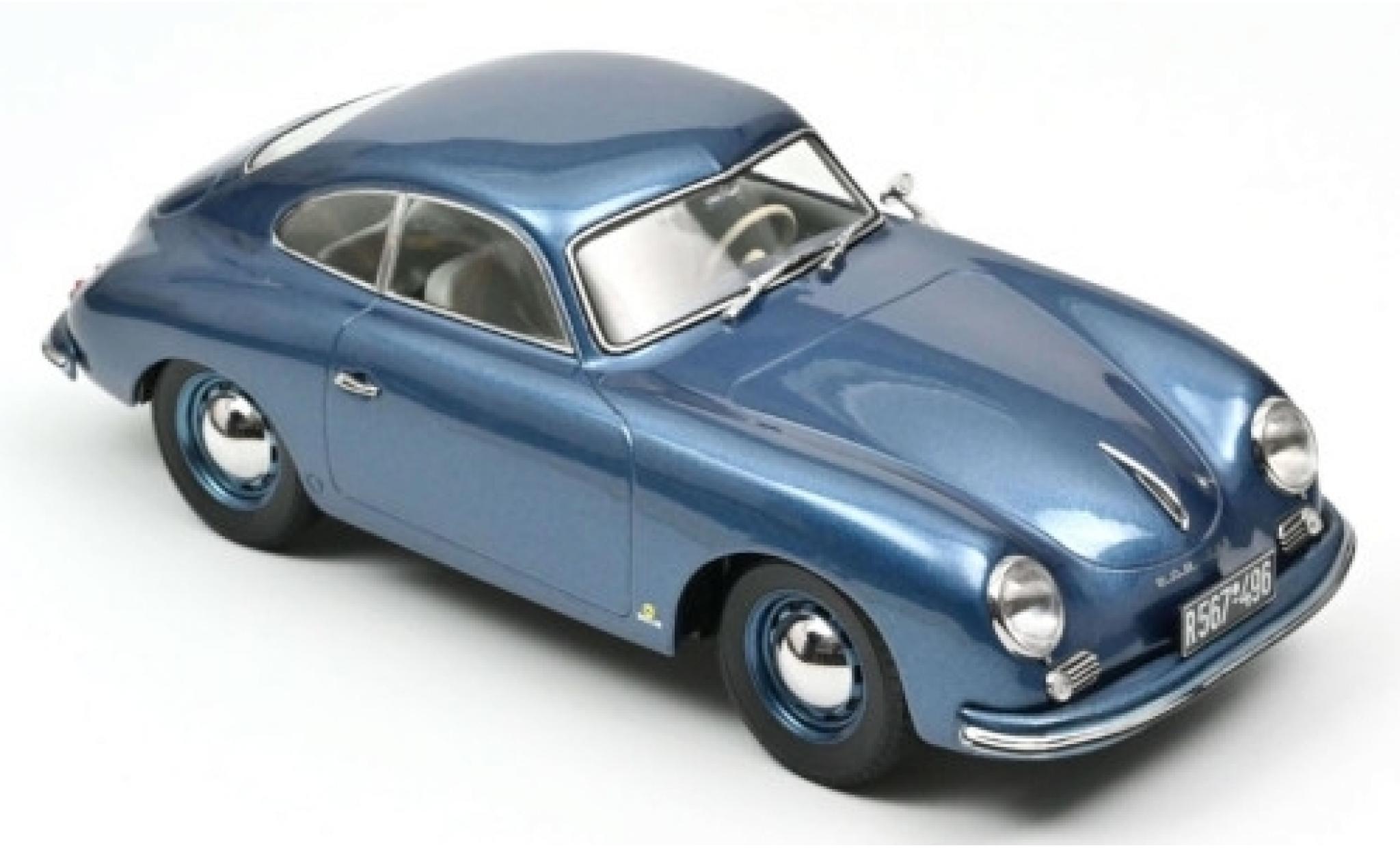Porsche 356 1/18 Norev Coupé metallise bleue 1952