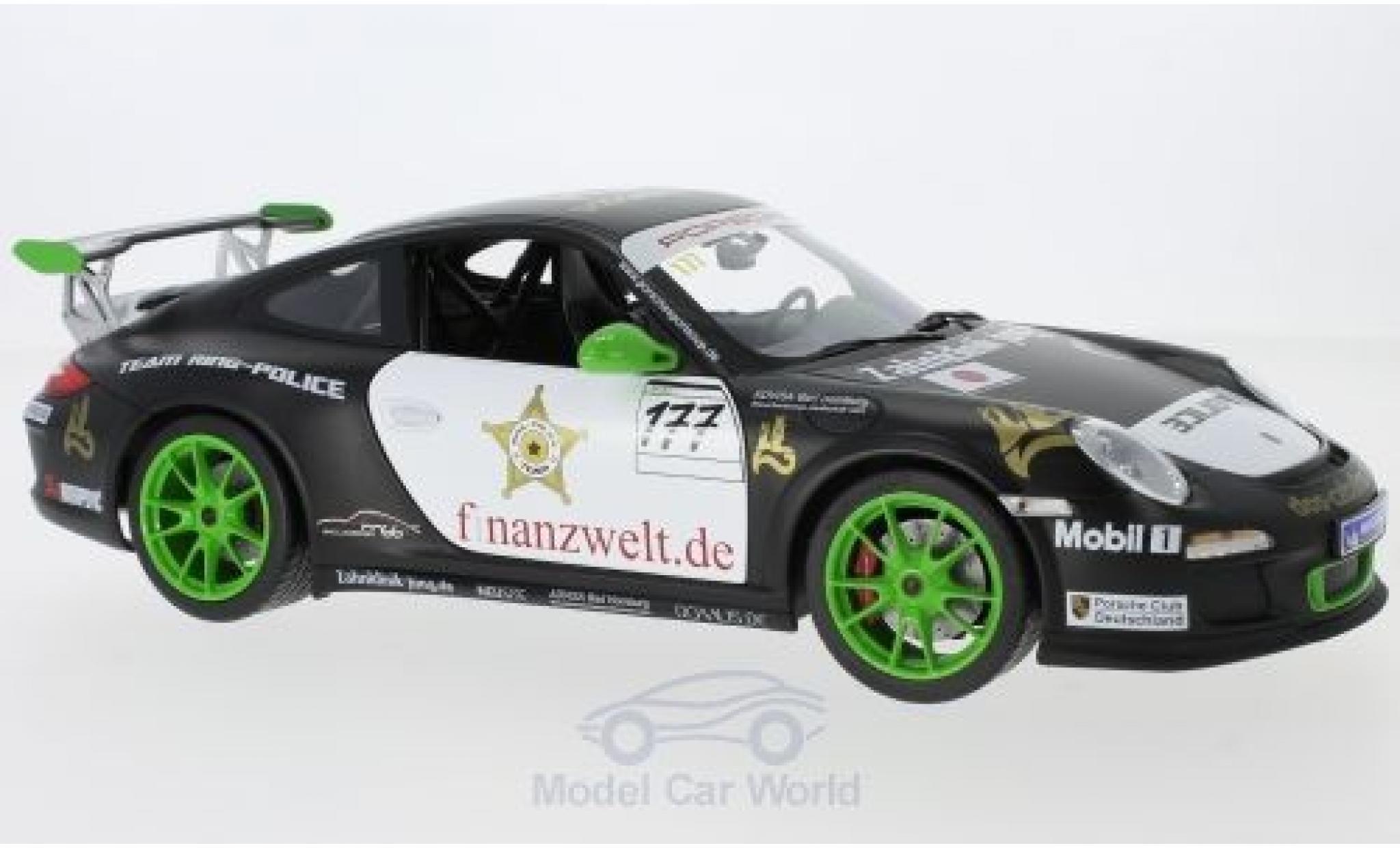 Porsche 997 GT3 RS 1/18 Norev 911 (II) No.177 Flash-Racing Team Ring Police Sports Cup 2011 J.van Ommen/J.E.Slooten