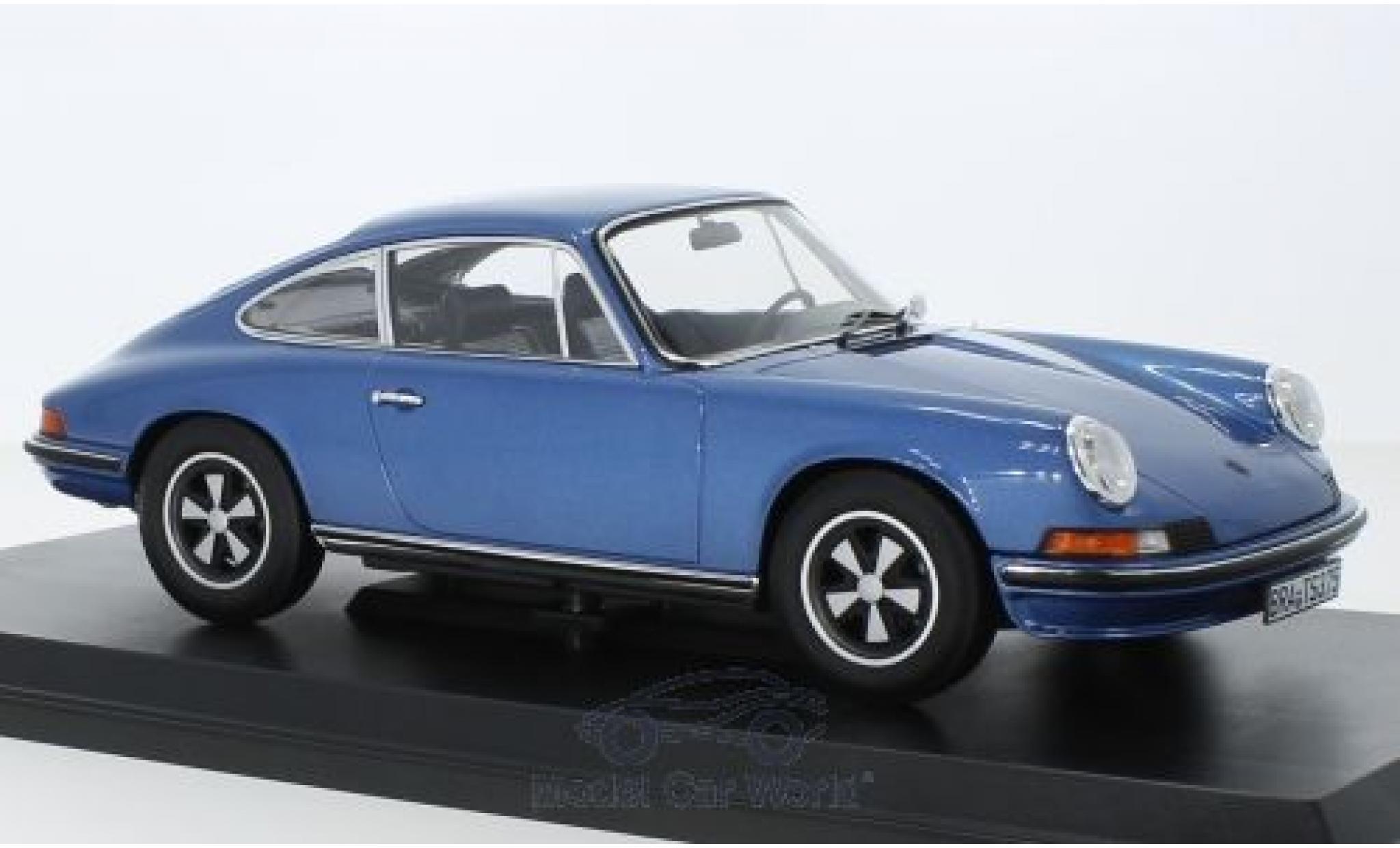 Porsche 911 1/18 Norev S metallic blue 1973