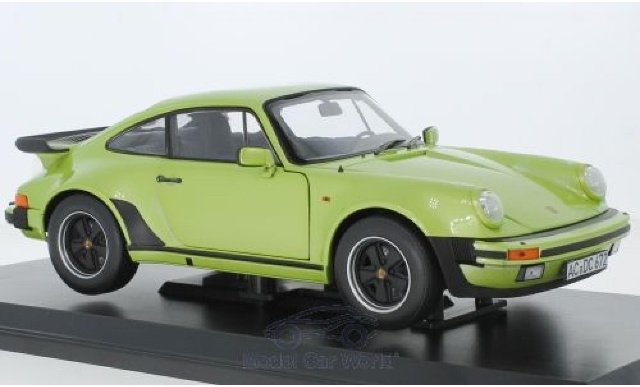 Porsche 911 1/18 Norev Turbo 3.3 métallisé verte 1978
